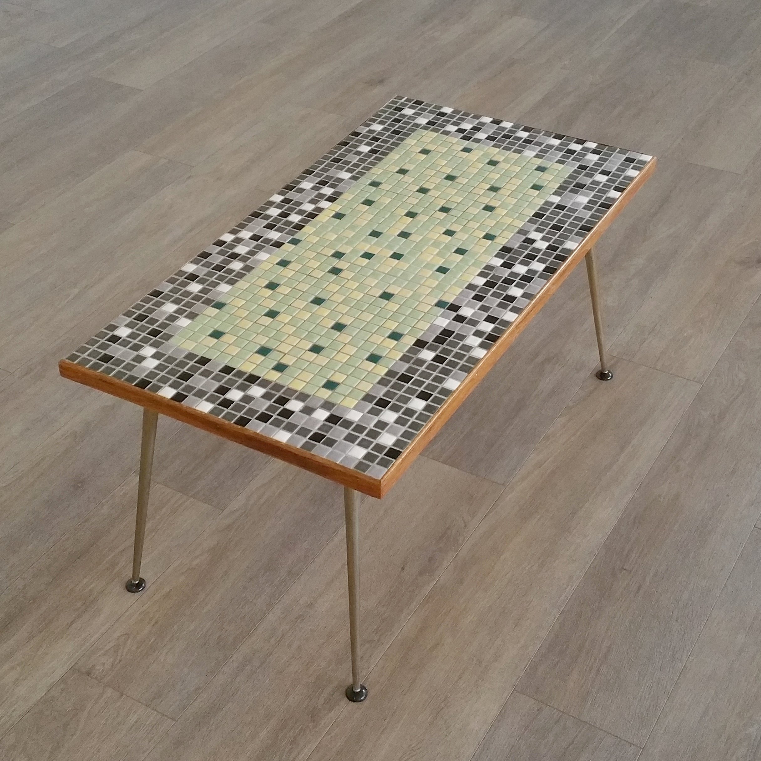 - Mosaic Top Coffee Table, 1950s #112406