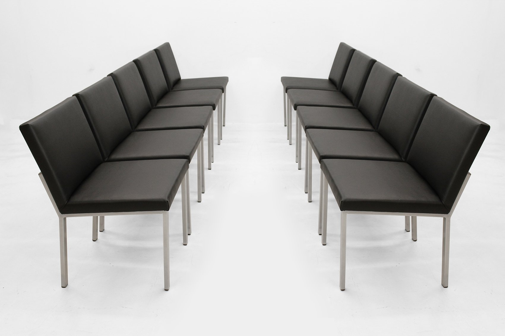 Set Of 10 Waiting Room Chairs By Alfred