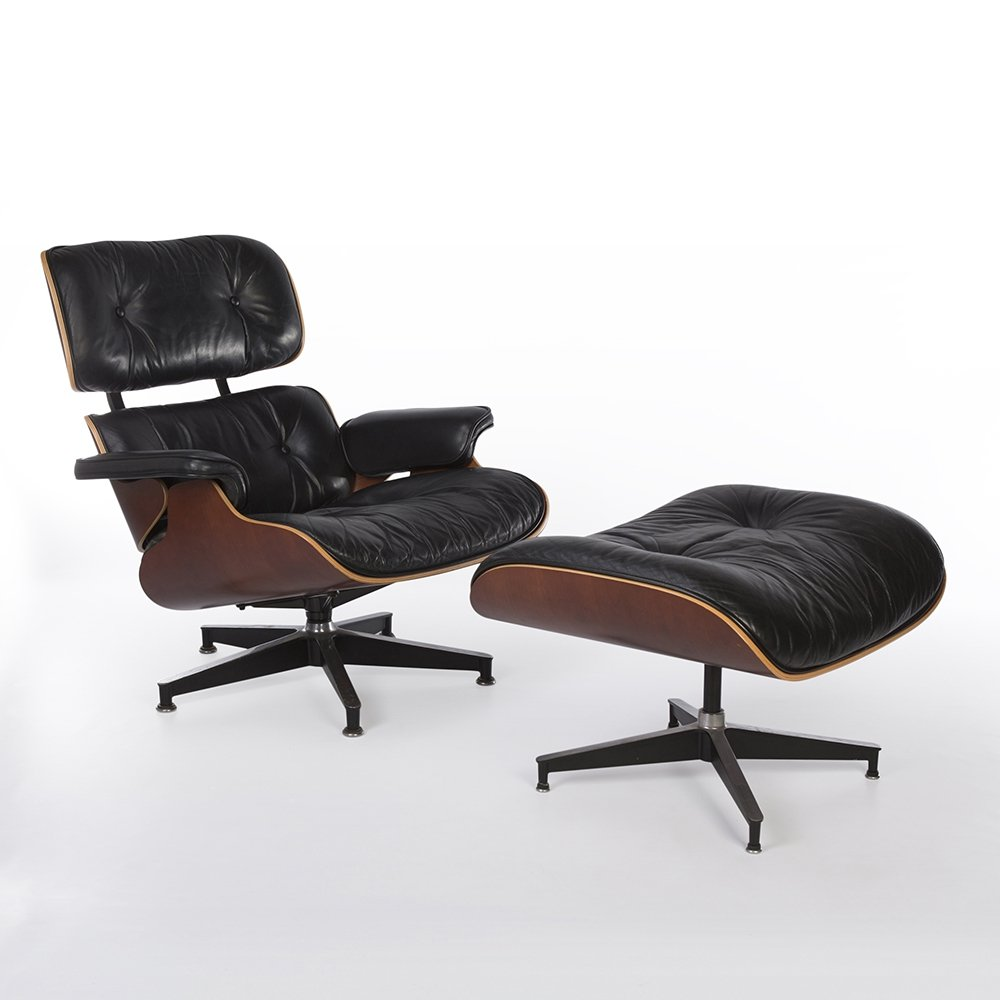 Miraculous Black Natural Cherry Herman Miller Eames Lounge Chair Ottoman 1990 Squirreltailoven Fun Painted Chair Ideas Images Squirreltailovenorg