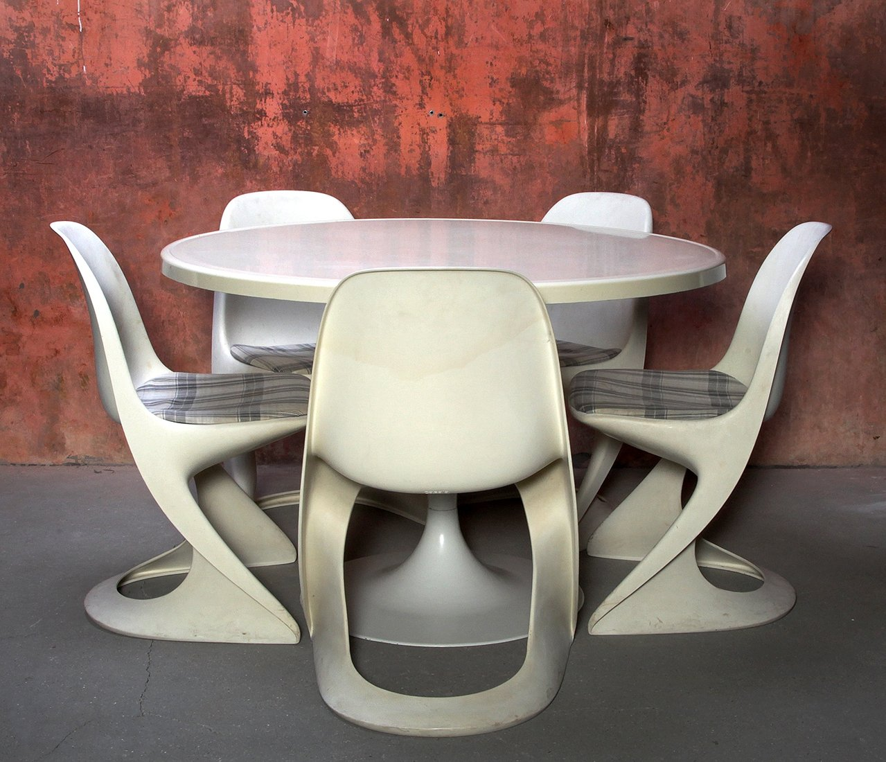 Awesome Dining Set Table 5 Chairs By Alexander Begge For Casala 1970S Cjindustries Chair Design For Home Cjindustriesco