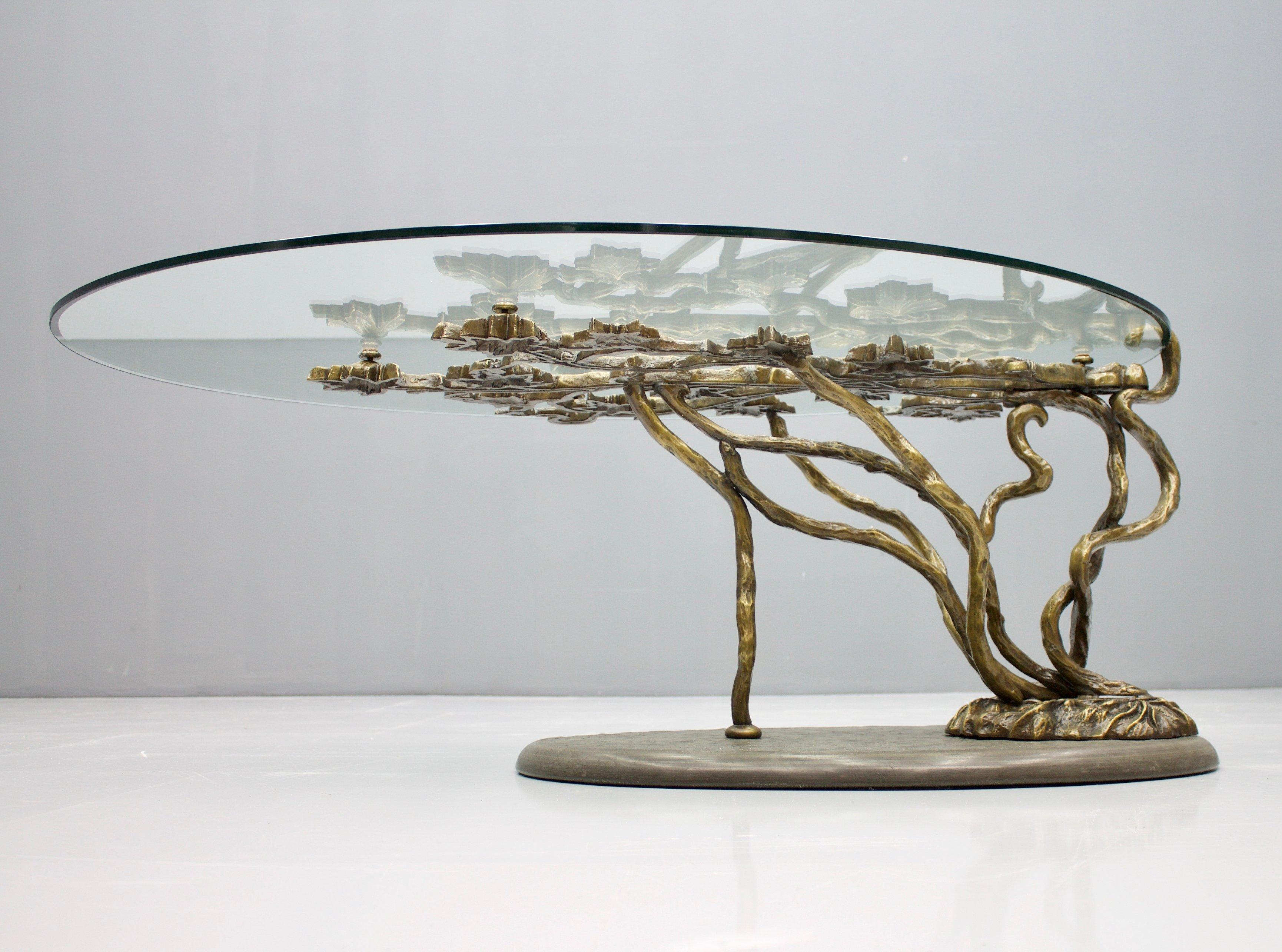 - Tree Form Bronze Coffee Table, France 1970s #114112