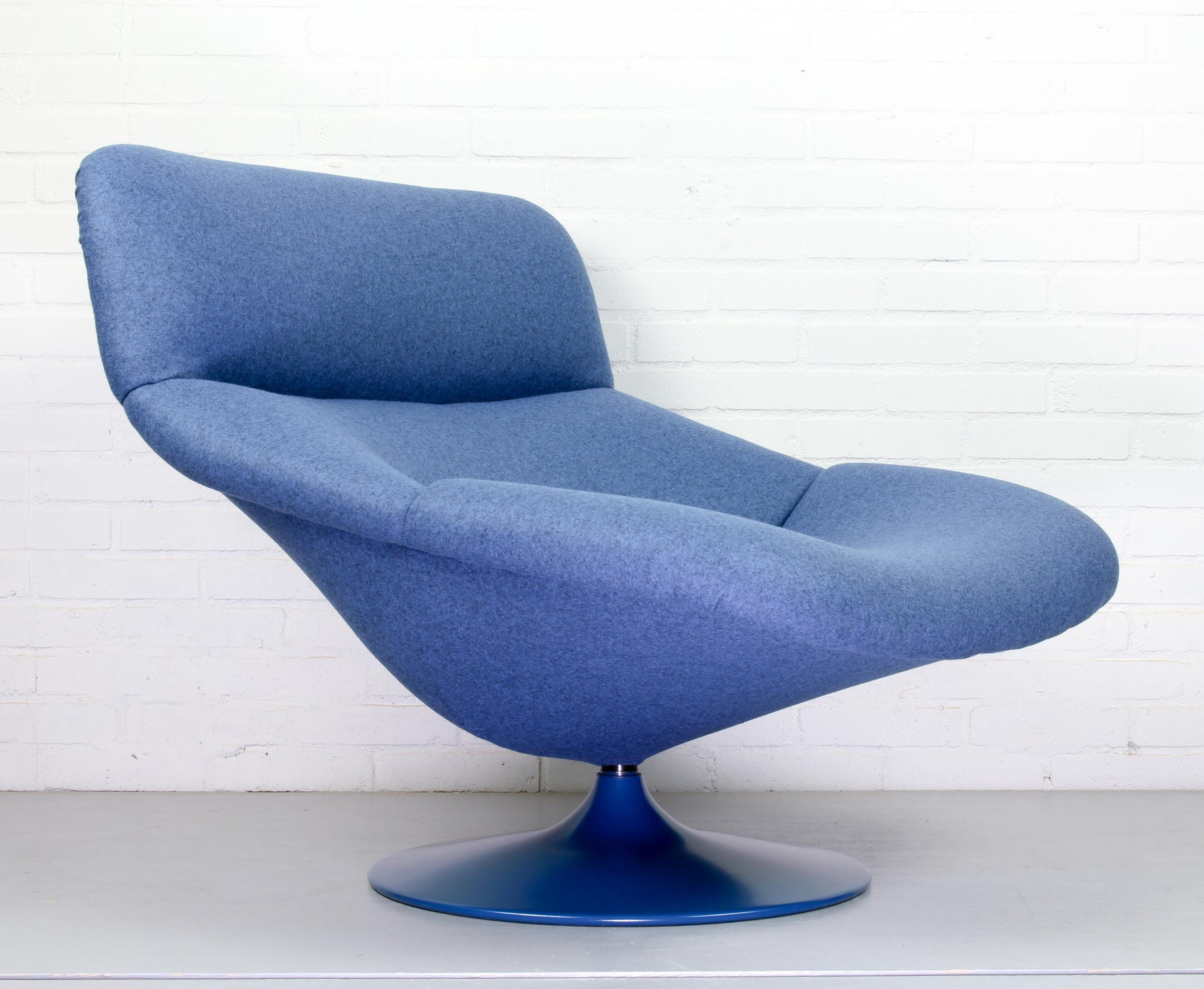 Vintage F518 Lounge Swivel Chair By Geoffrey Harcourt For Artifort 1970s