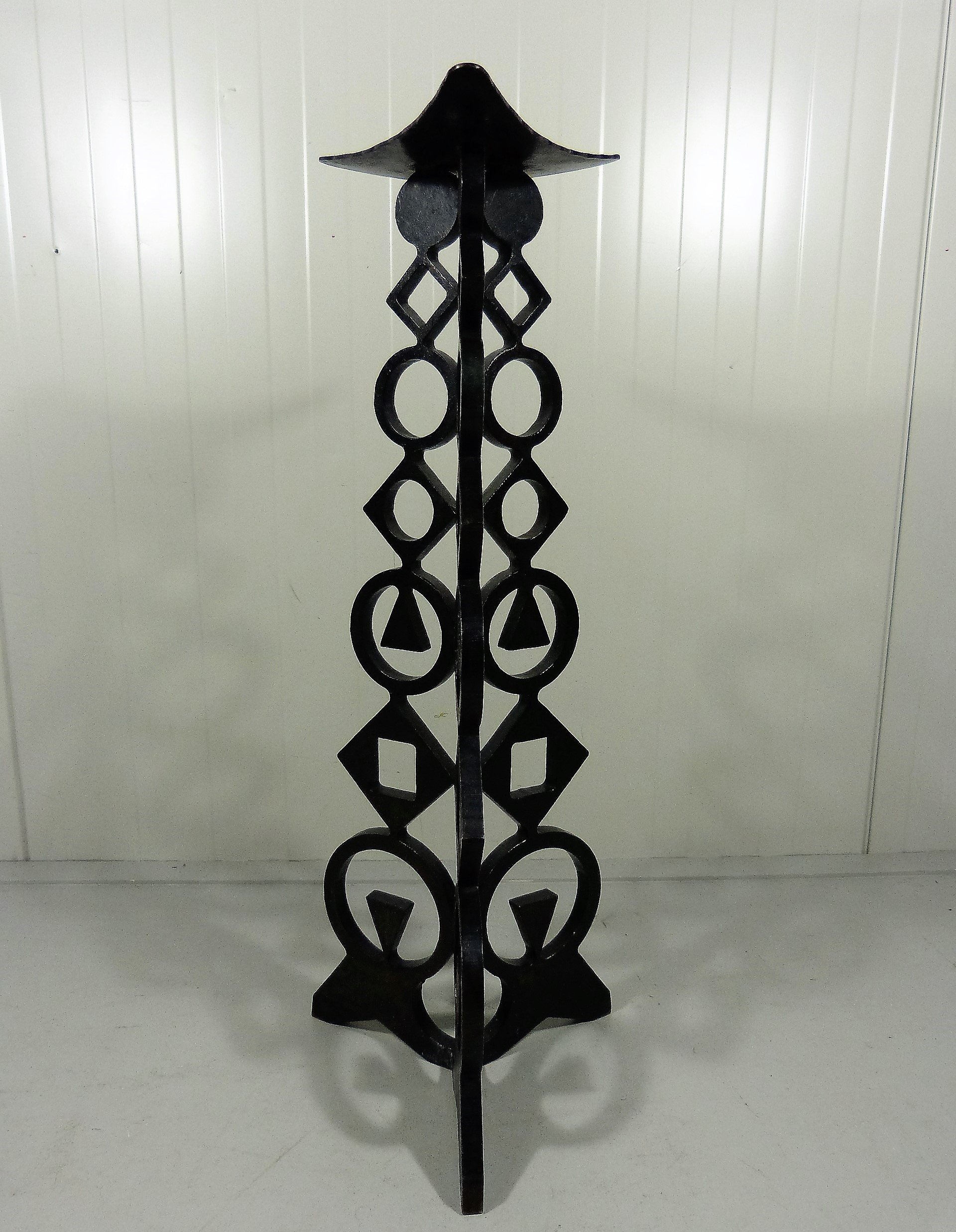 Large Cast Iron Floor Candle Holder 1960 S 114653