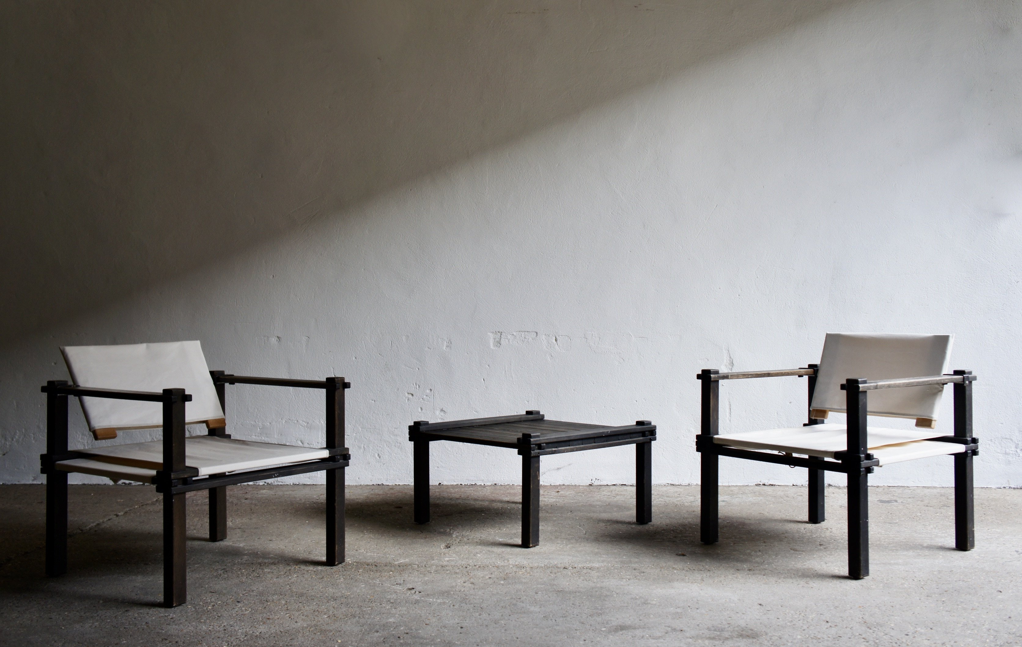 Lange Smalle Sidetable.1960 S Farmer Chairs And Coffee Table By Gerd Lange For Bofinger