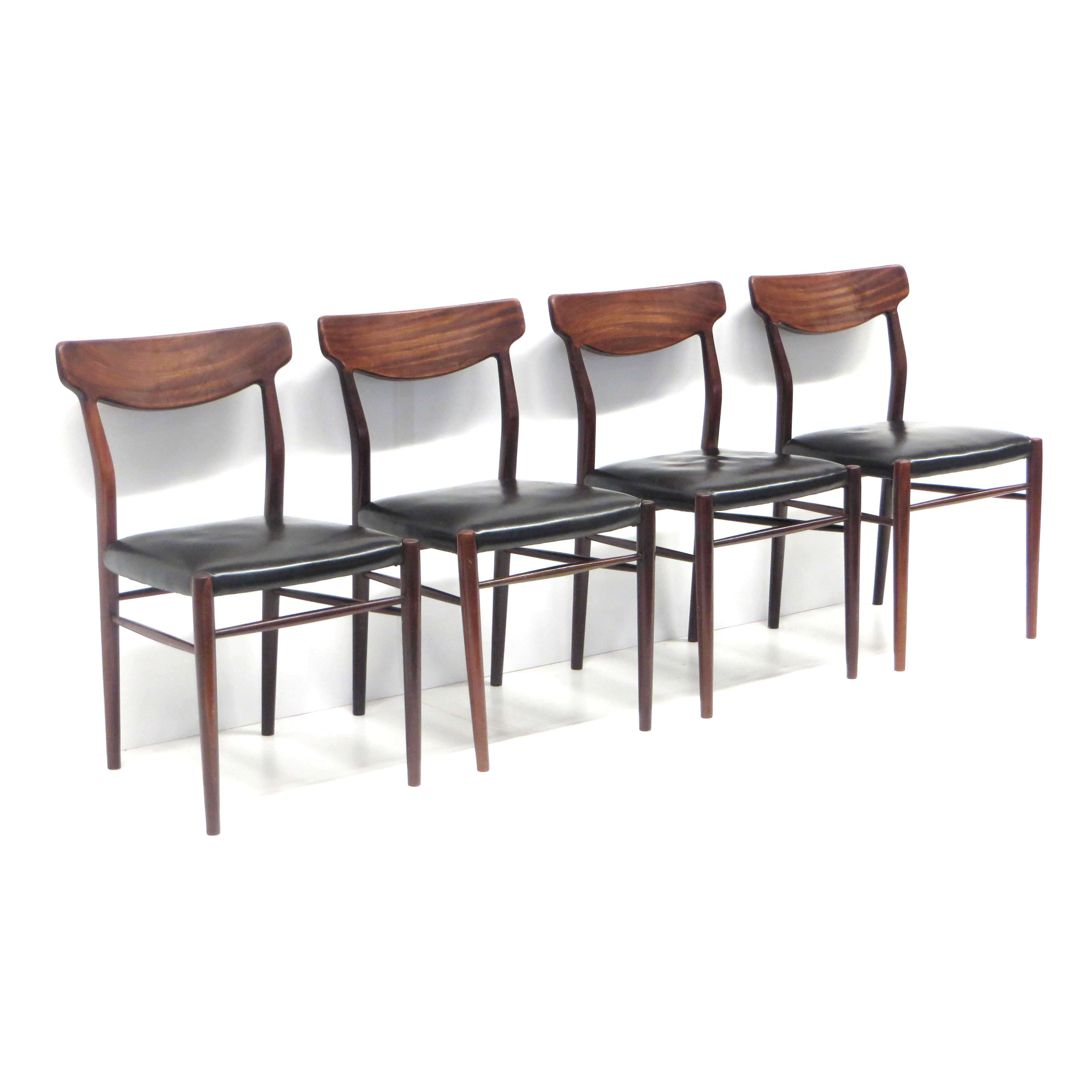 Set Of 4 Danish Designer Chairs From Harry Ostergaard 1960s 115003