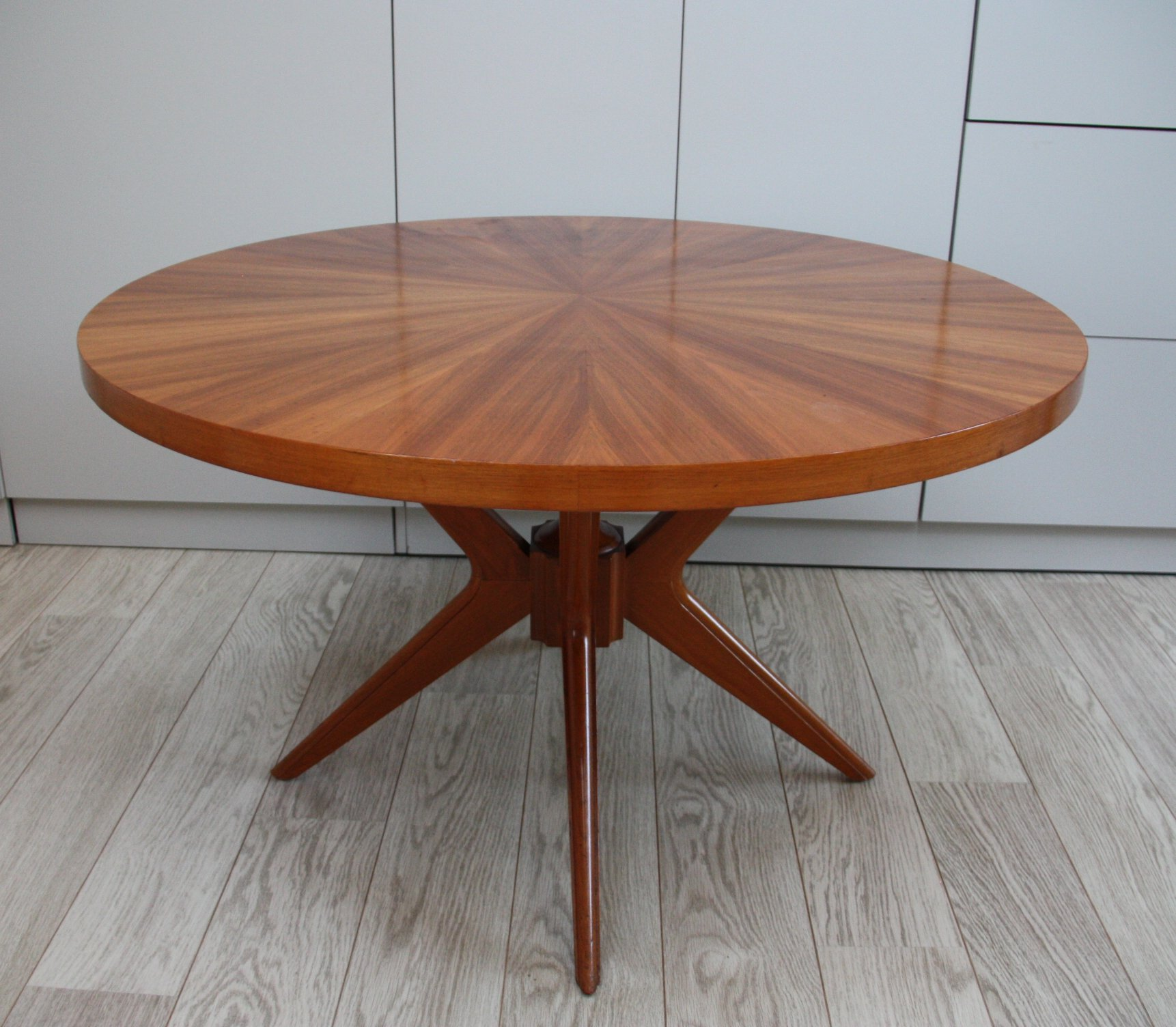 Circular Wooden Coffee Table By Jese Mobel Denmark 1960 S