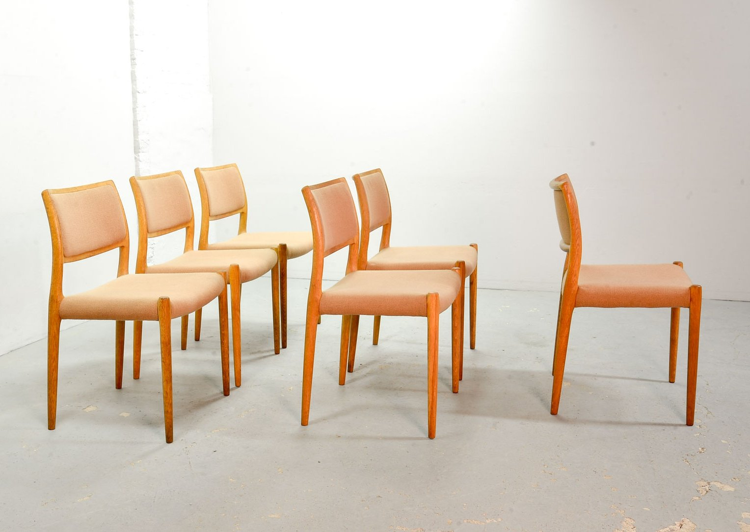 Astounding Set Of 6 Danish Design Niels Otto Moller Model 80 Dining Squirreltailoven Fun Painted Chair Ideas Images Squirreltailovenorg