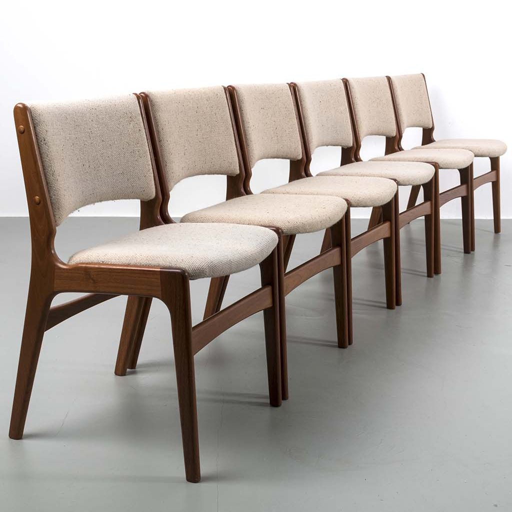 Set of 6 Erik Buch dining chairs   #115801
