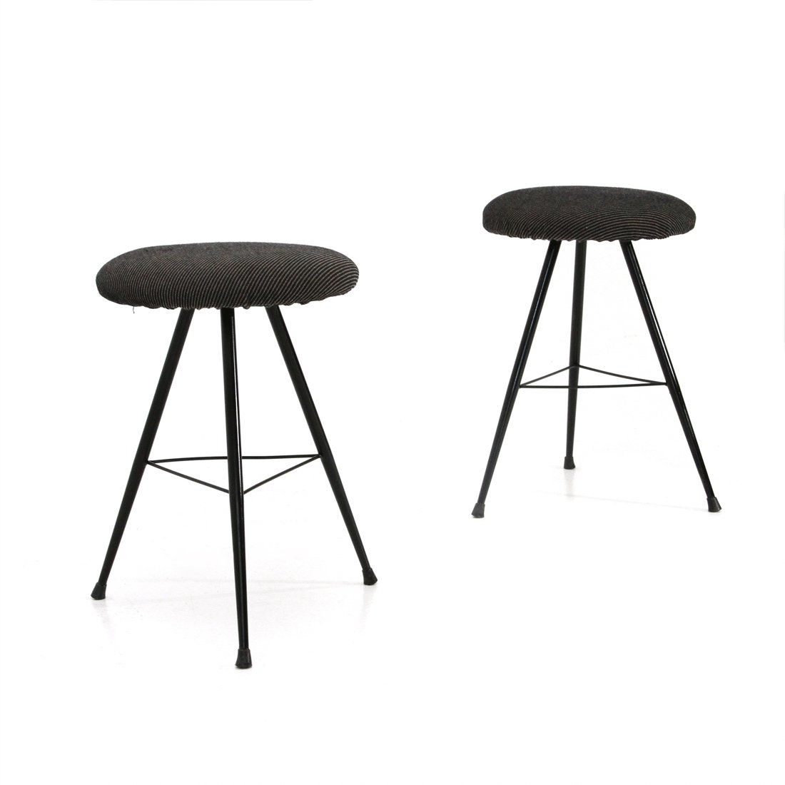 Astounding Pair Of Italian Midcentury Black Metal Stools 1950S Ocoug Best Dining Table And Chair Ideas Images Ocougorg
