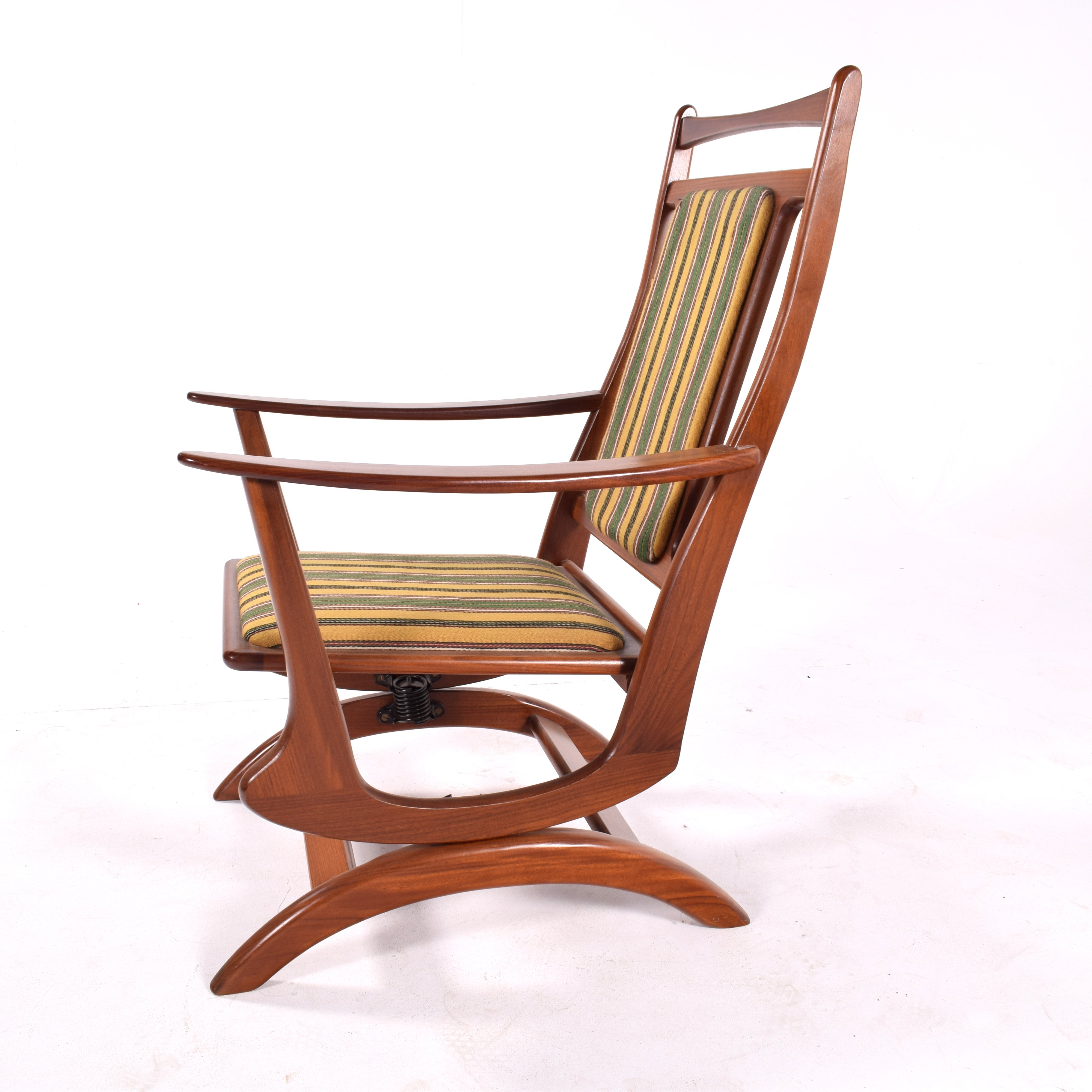 Amazing Midcentury Danish Spring Rocking Chair Gmtry Best Dining Table And Chair Ideas Images Gmtryco