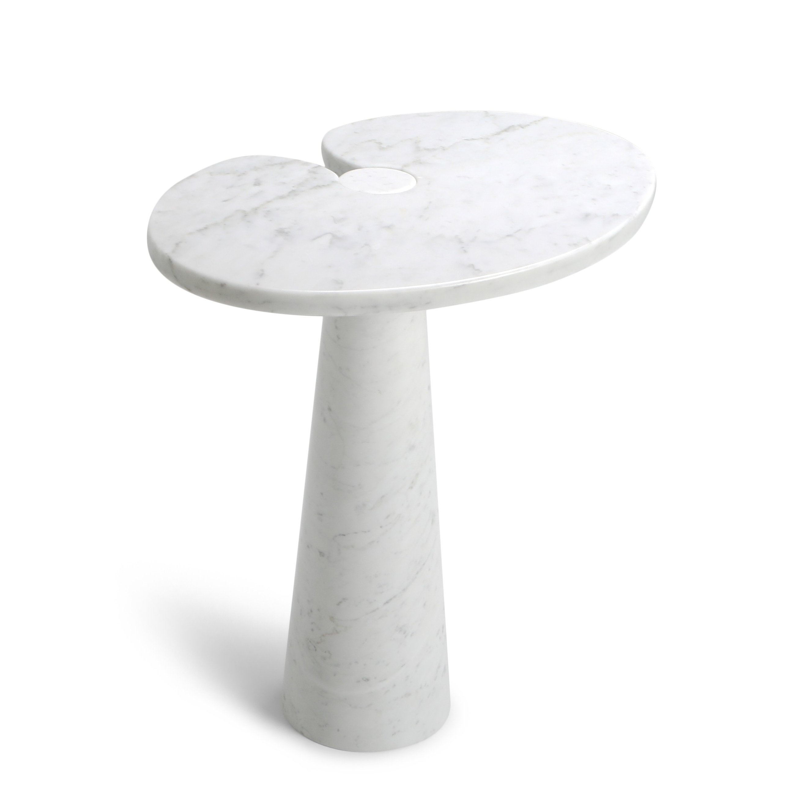 Eros White Carrara Marble Side Table By Angelo Mangiarotti For Skipper 1970s 116359