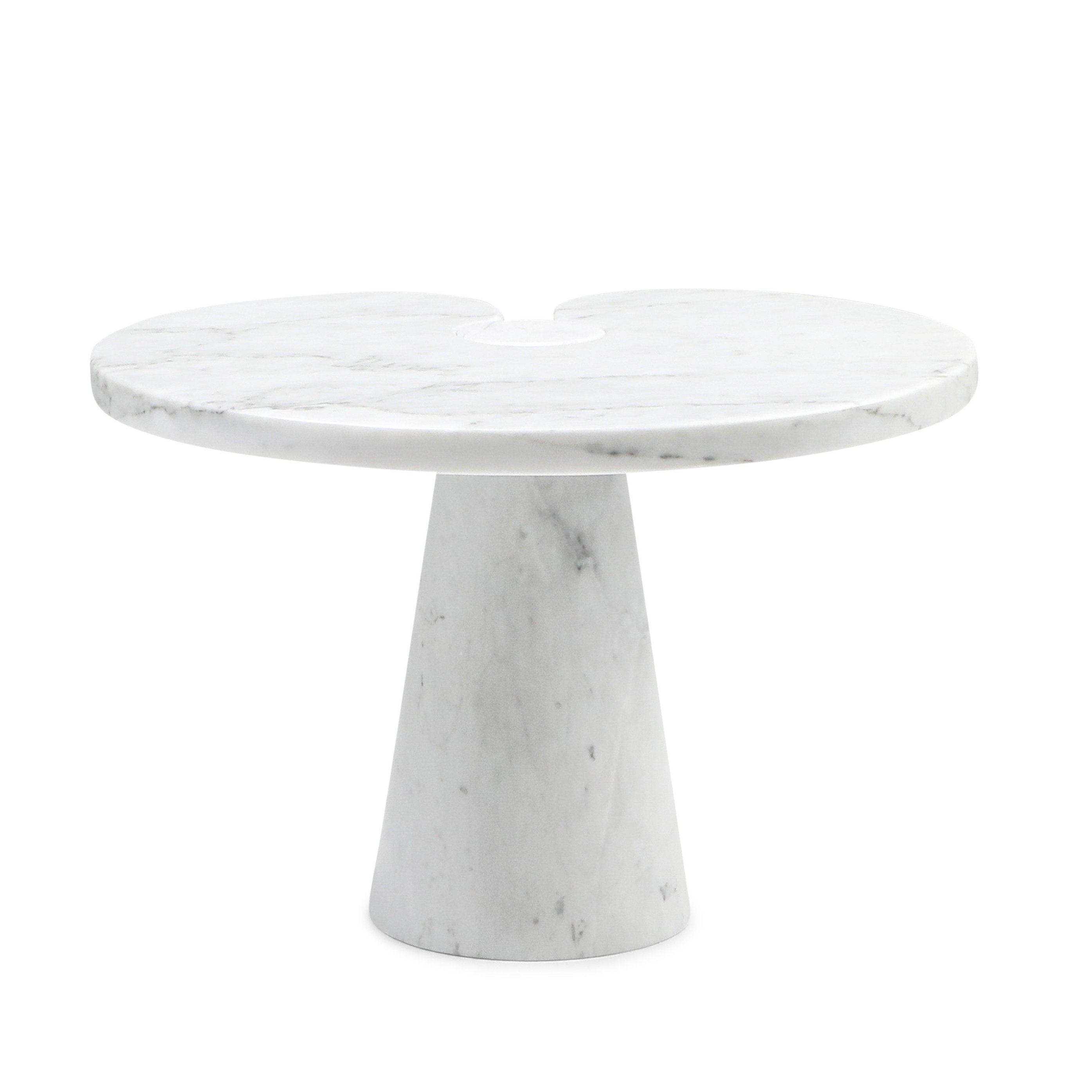 Eros White Carrara Marble Side Table By Angelo Mangiarotti For Skipper 1970s 116389
