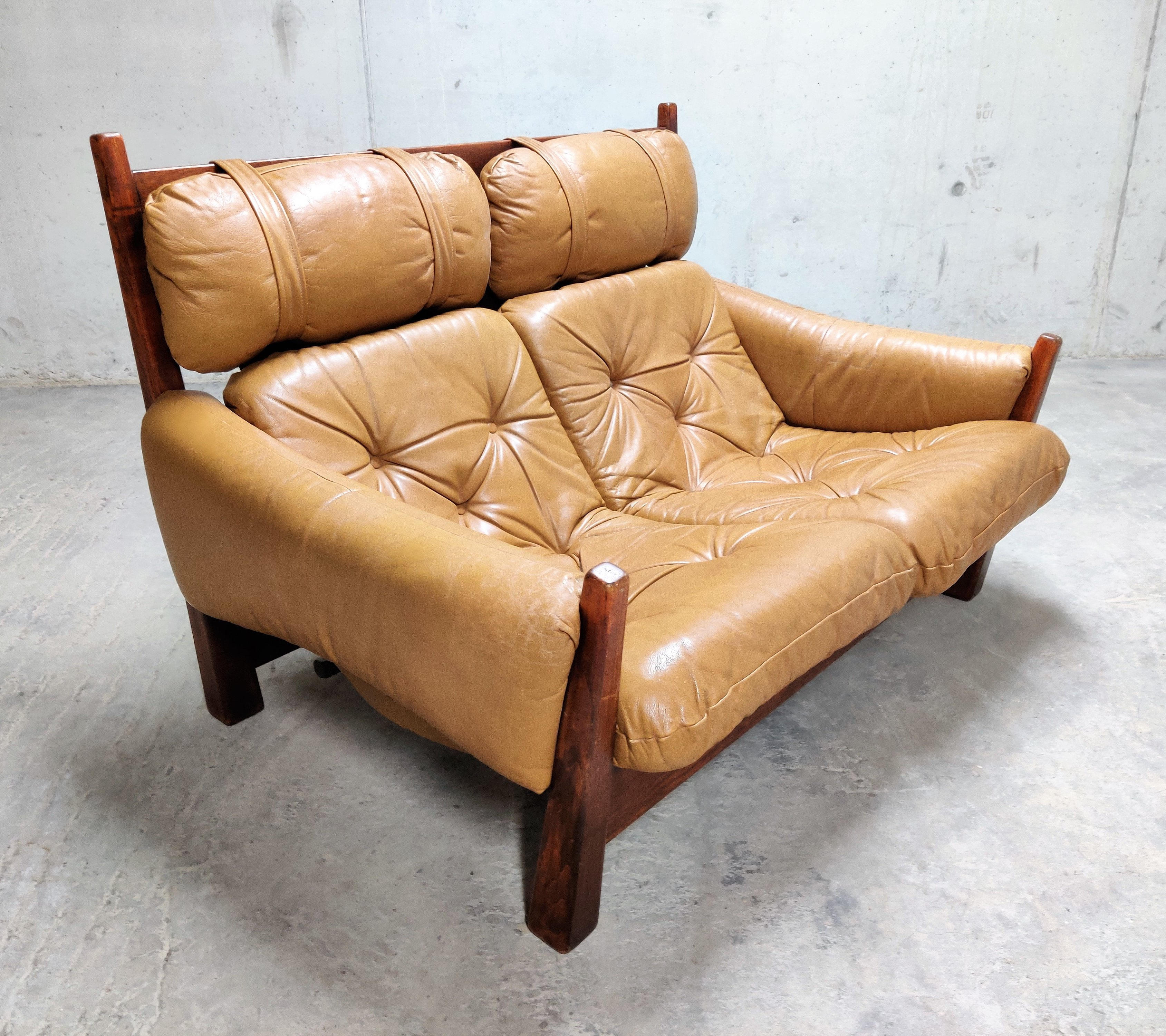 Jean Gillon 2 Seater Leather Sofa For