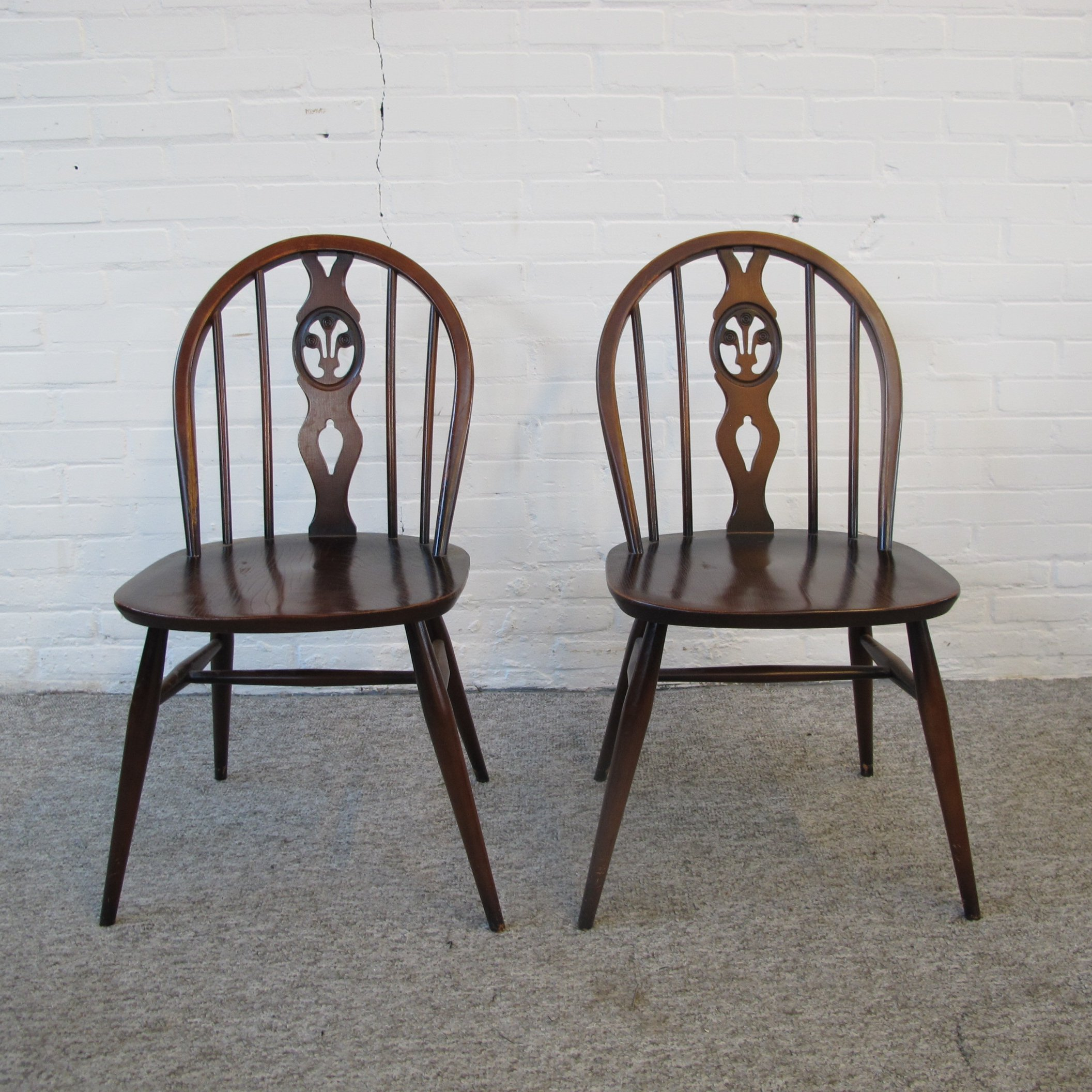 Pair of Ercol Lucian Ercolani dining chairs, 1960s | #116815