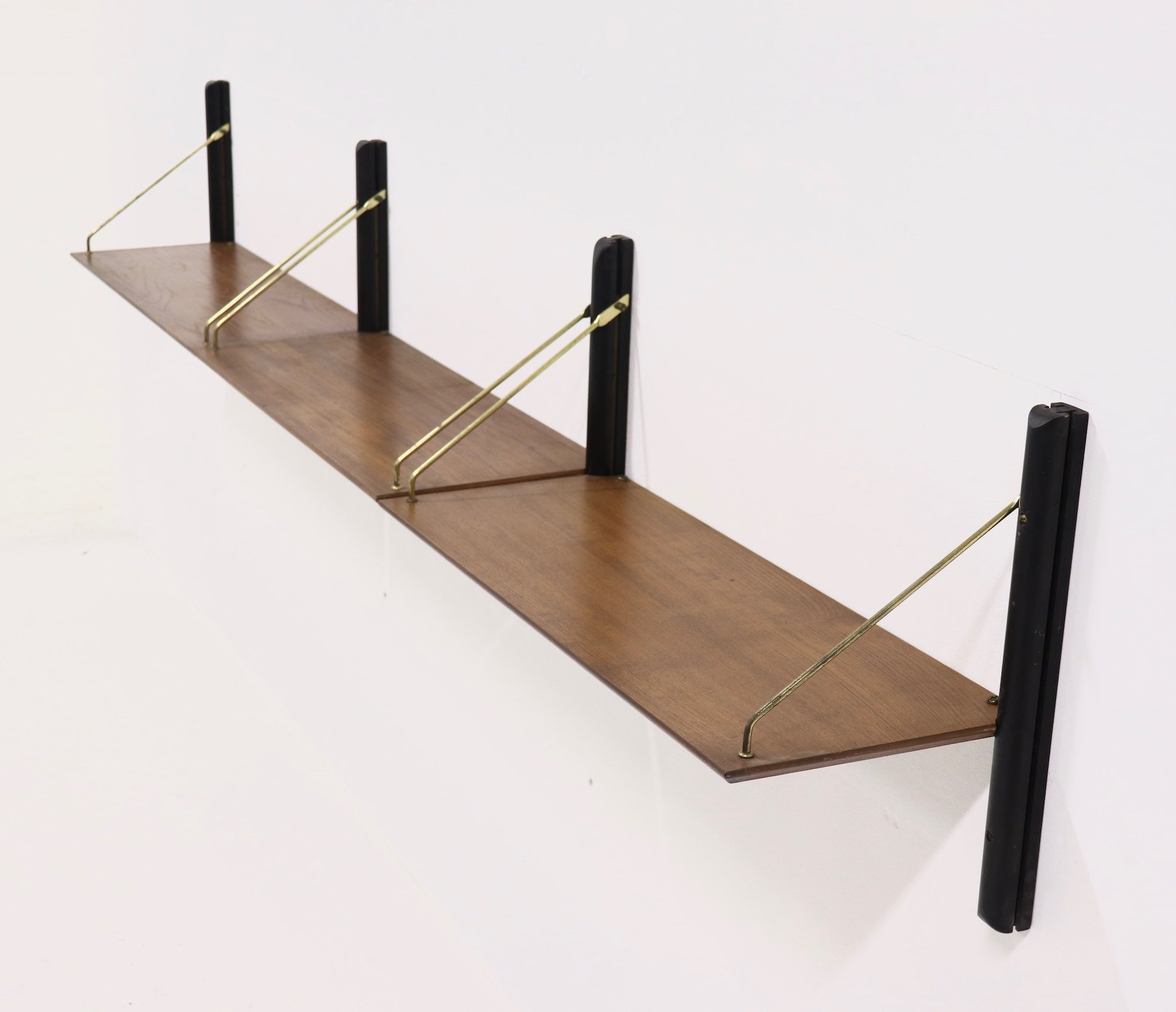 Rare Wall Mounted Shelving Unit By Louis Van Teeffelen For Webe 1950s