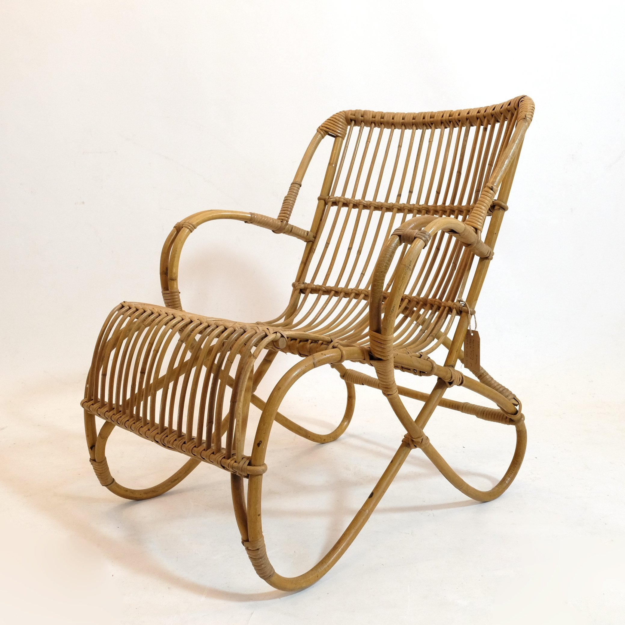 Picture of: Mid Century Rattan Lounge Chair 1950s 117679