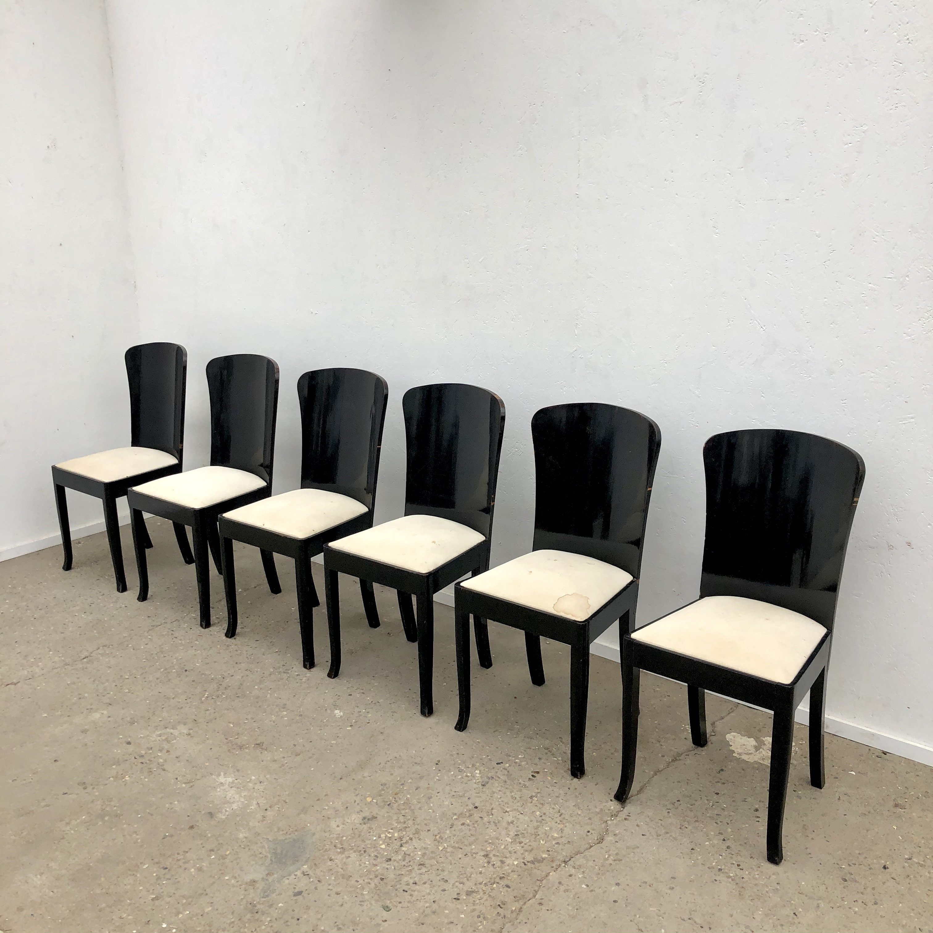 Art Deco Style Dining Chairs 1950s 117793