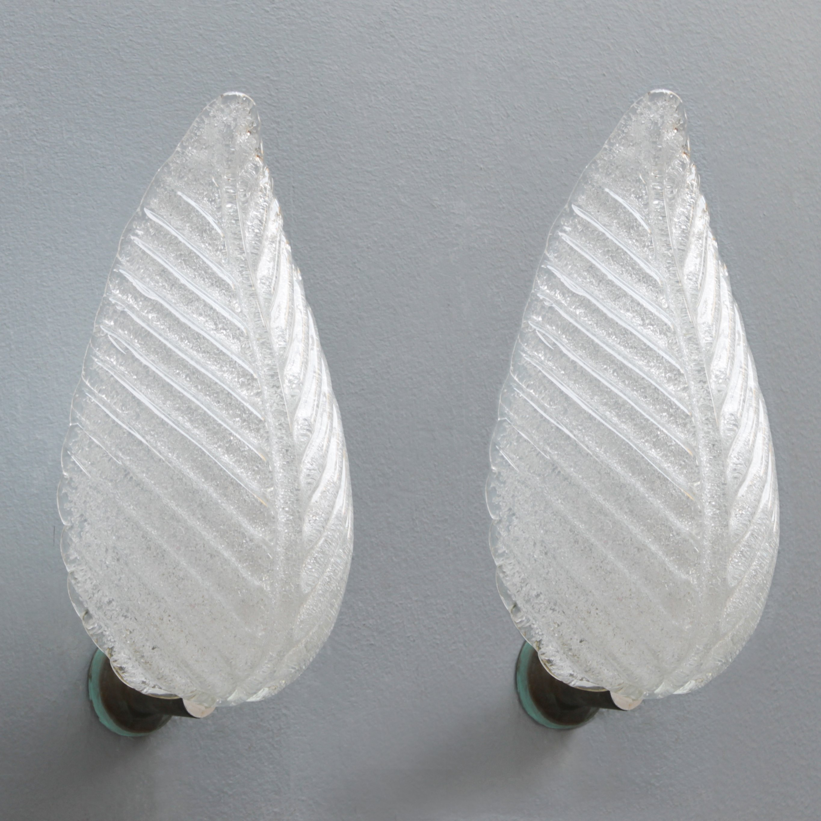 Lot 2 pendant silver leaf silver leaf Murano style identical to the photo