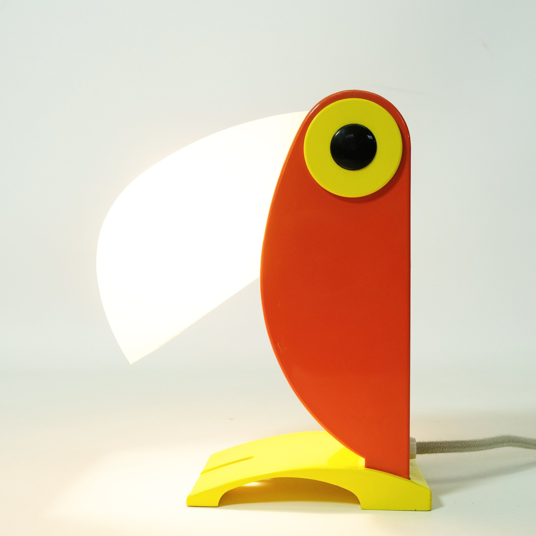 Orange Toucan Lamp By Old Timer Ferrari Italy 1960s 119005
