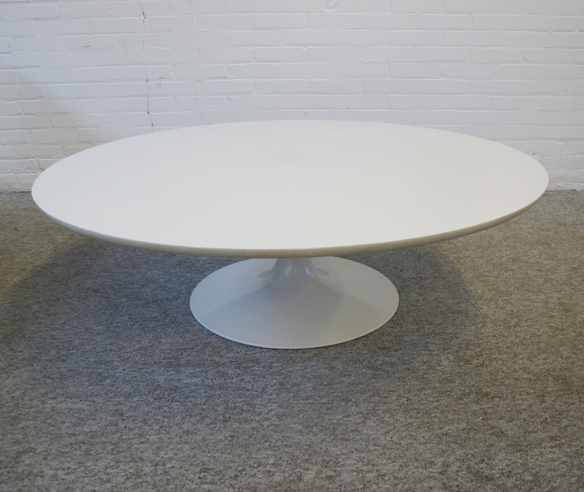 Large White Coffee Table By Maurice Burke For Arkana 1960s 119421