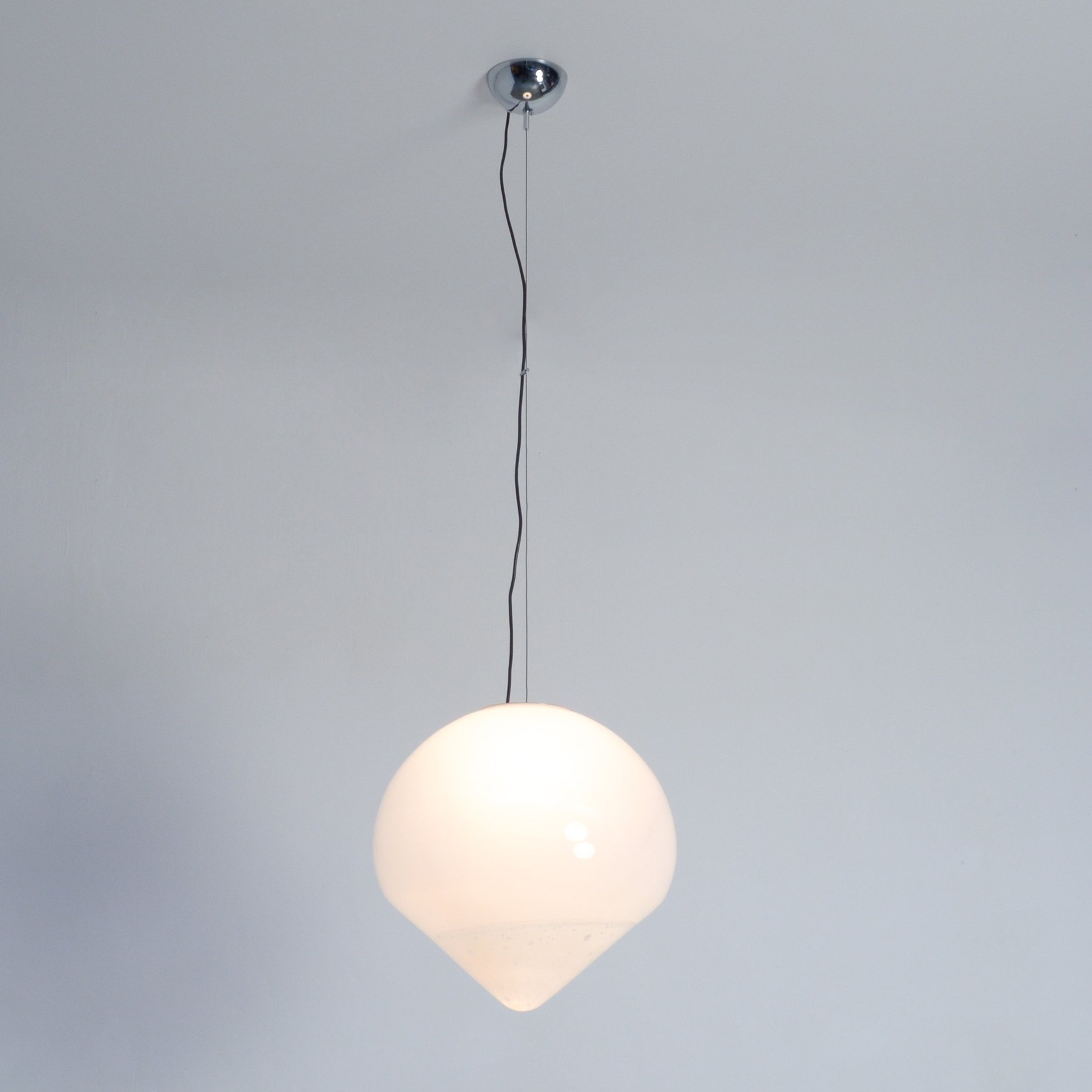 Xl White Murano Gl Pendant Lamp By A