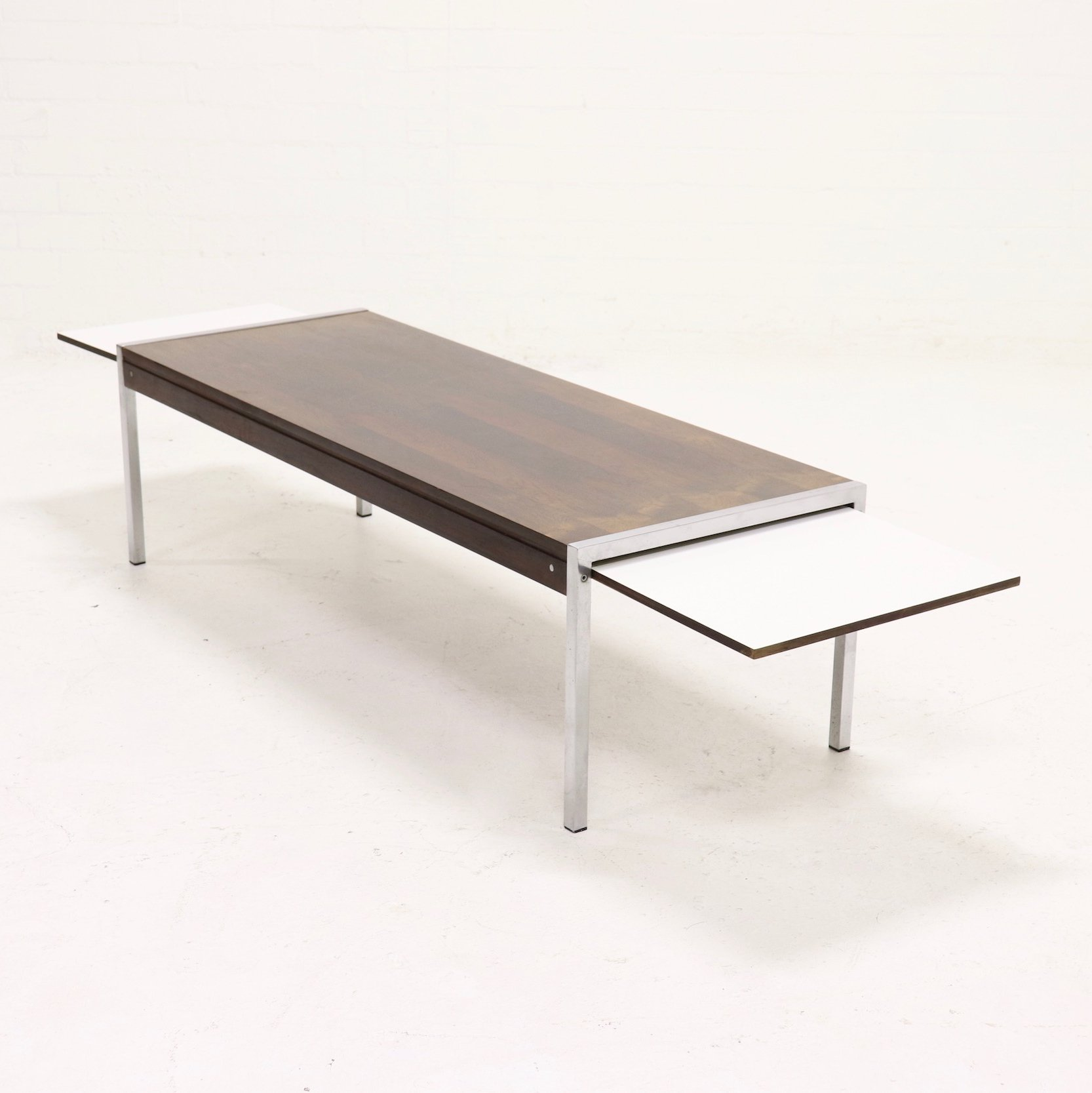 - Mid Century Extendable Rosewood Coffee Table By Topform, 1960s