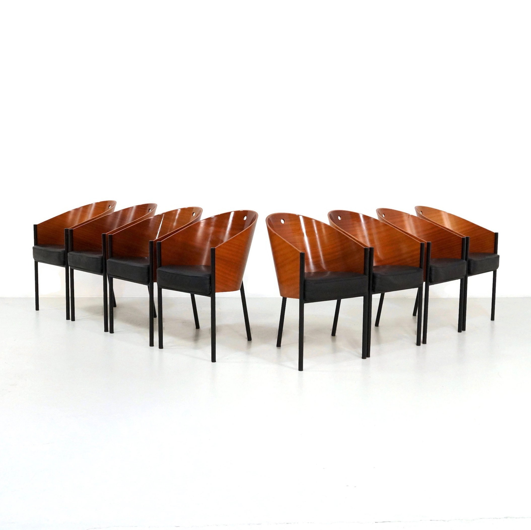 Living Room Bedroom Combo Ideas, Set Of 8 Costes Dining Chairs By Philippe Starck For Driade 1980s 121067