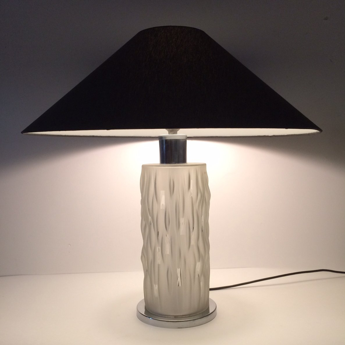 Art Deco Style Glass Table Lamp 1970 S 121324