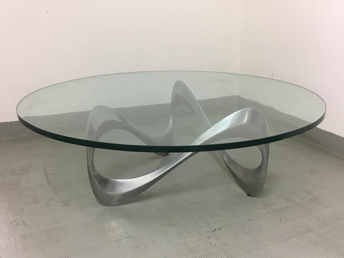- Aluminum & Glass Snake Coffee Table By Knut Hesterberg, 1970 #121479