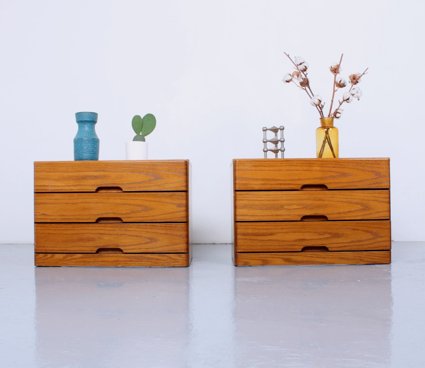 Danish Style Drawer Boxes Large Nightstands 121513