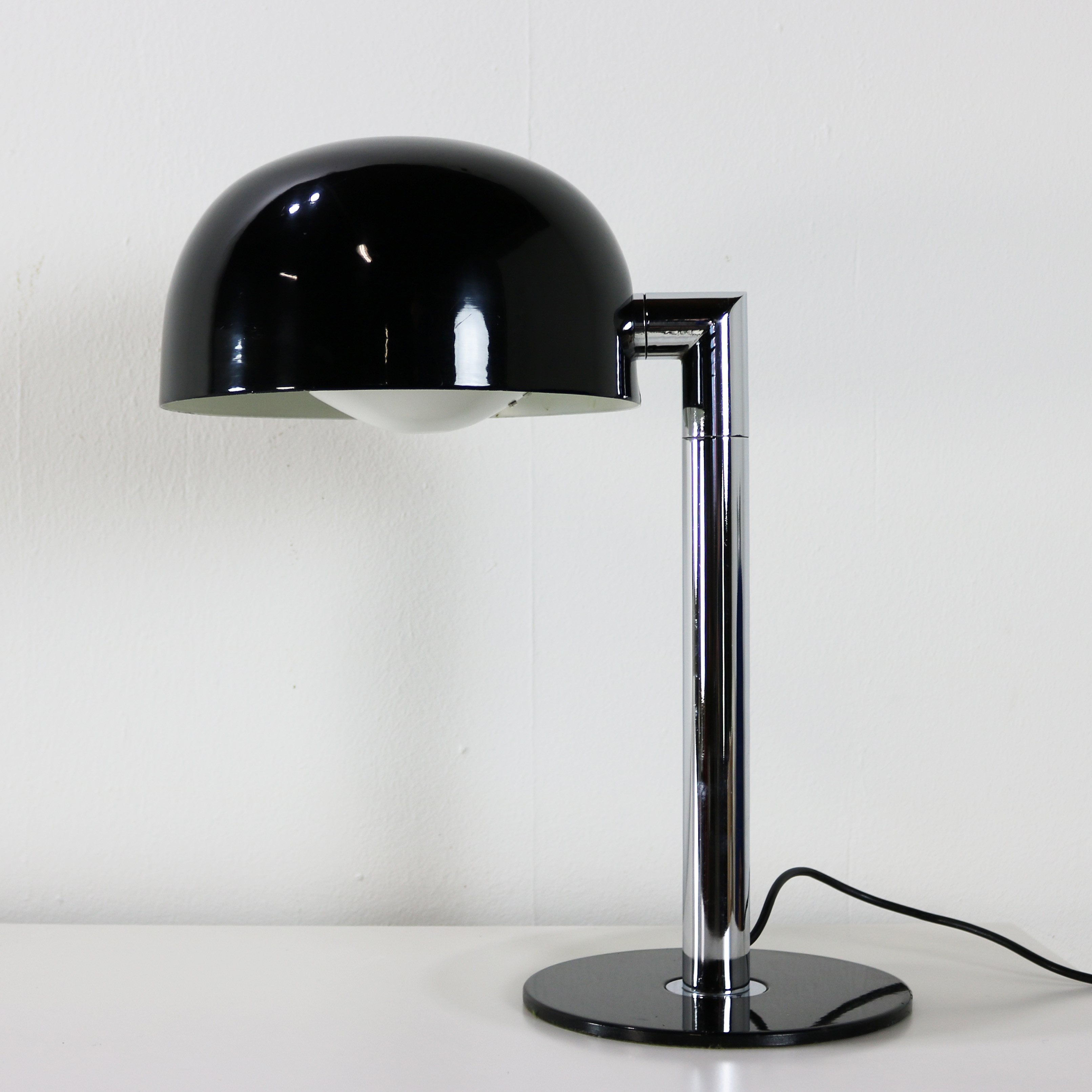 Black Chrome Seventies Table Lamp