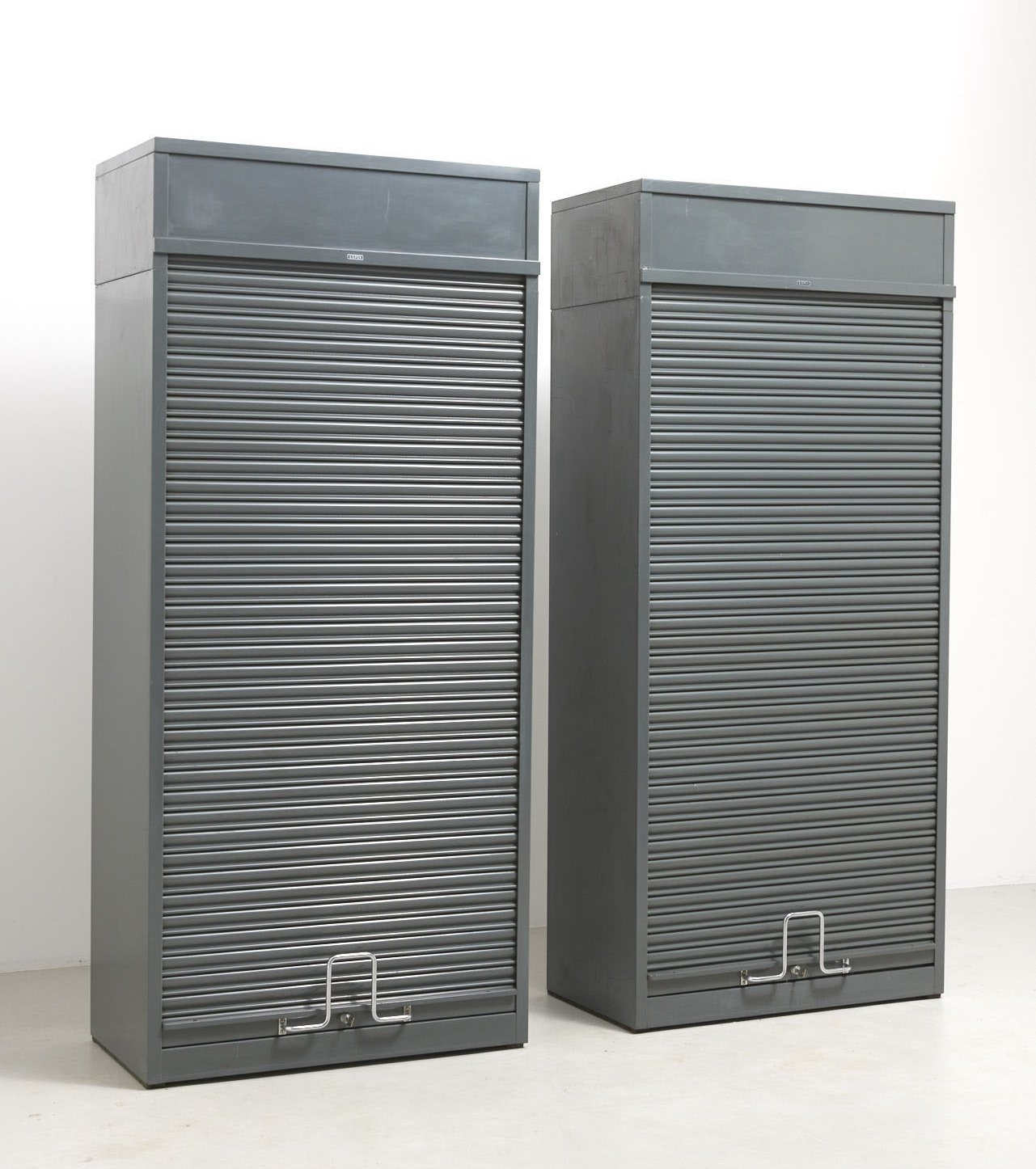 Office cabinets with tambour doors by Gispen, Netherlands 48s