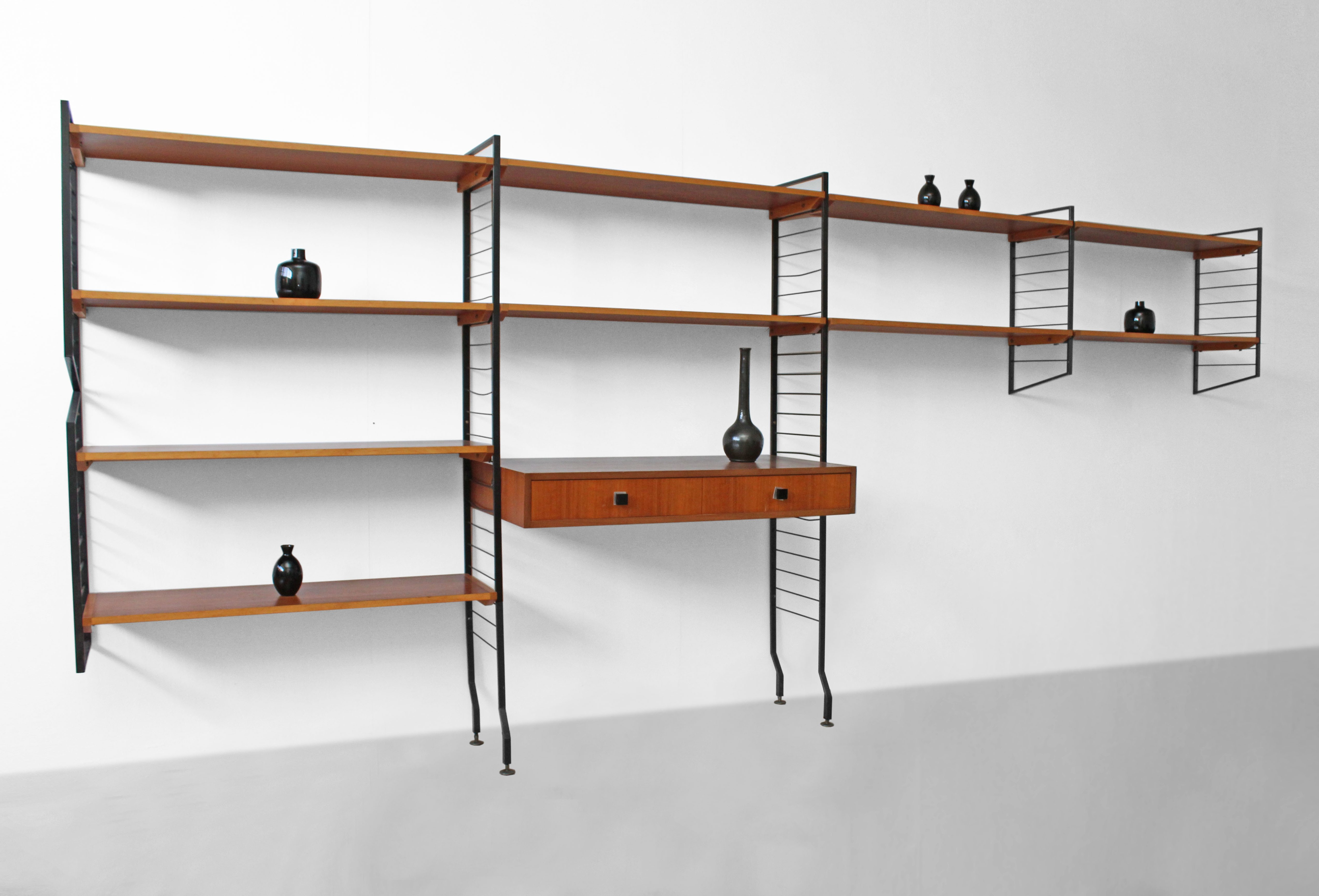 large modular bineurop wall unit with desk