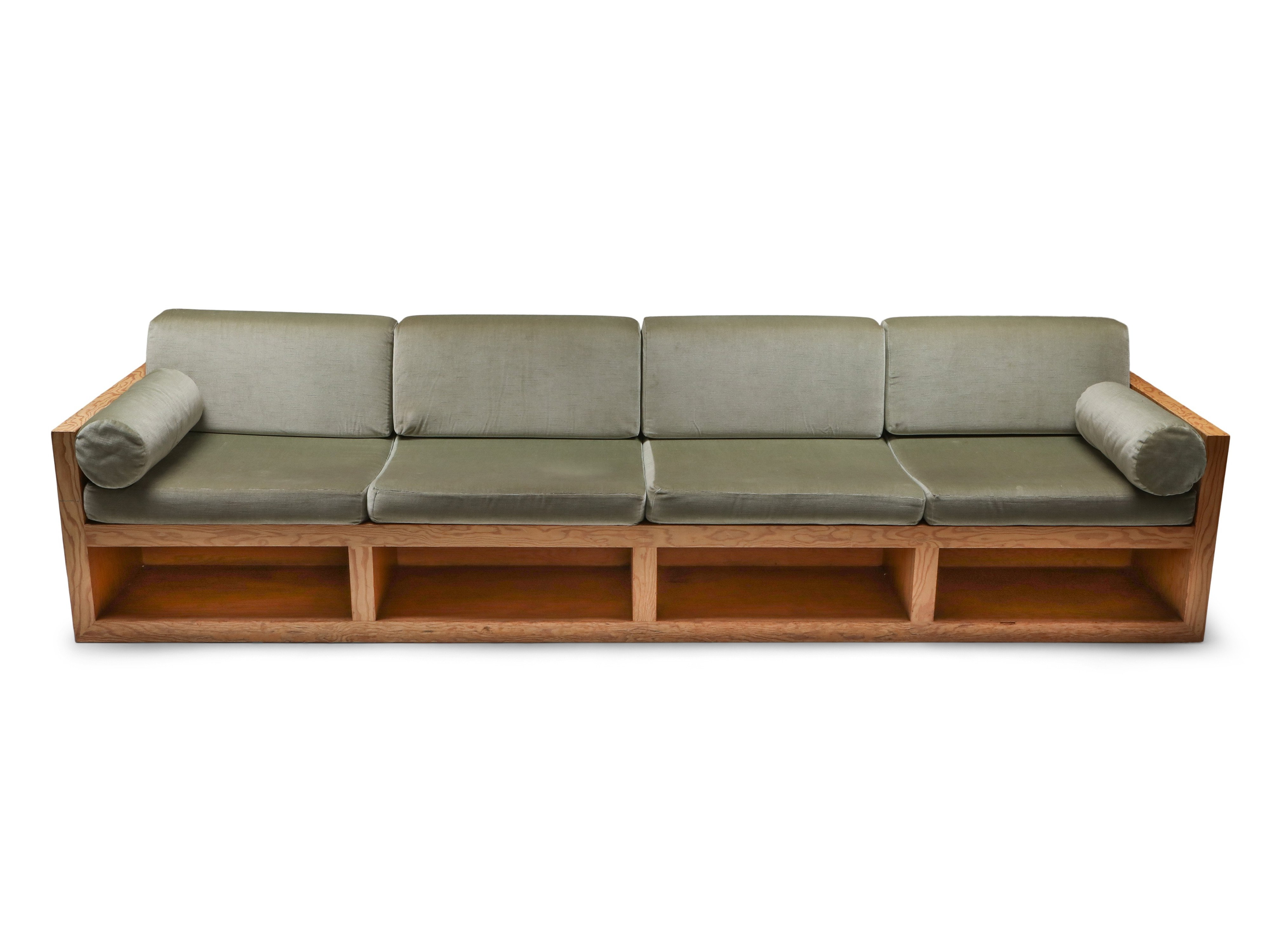 Picture of: Mid Century Modern Sofa In Pitch Pine Velvet 1960 S 125791
