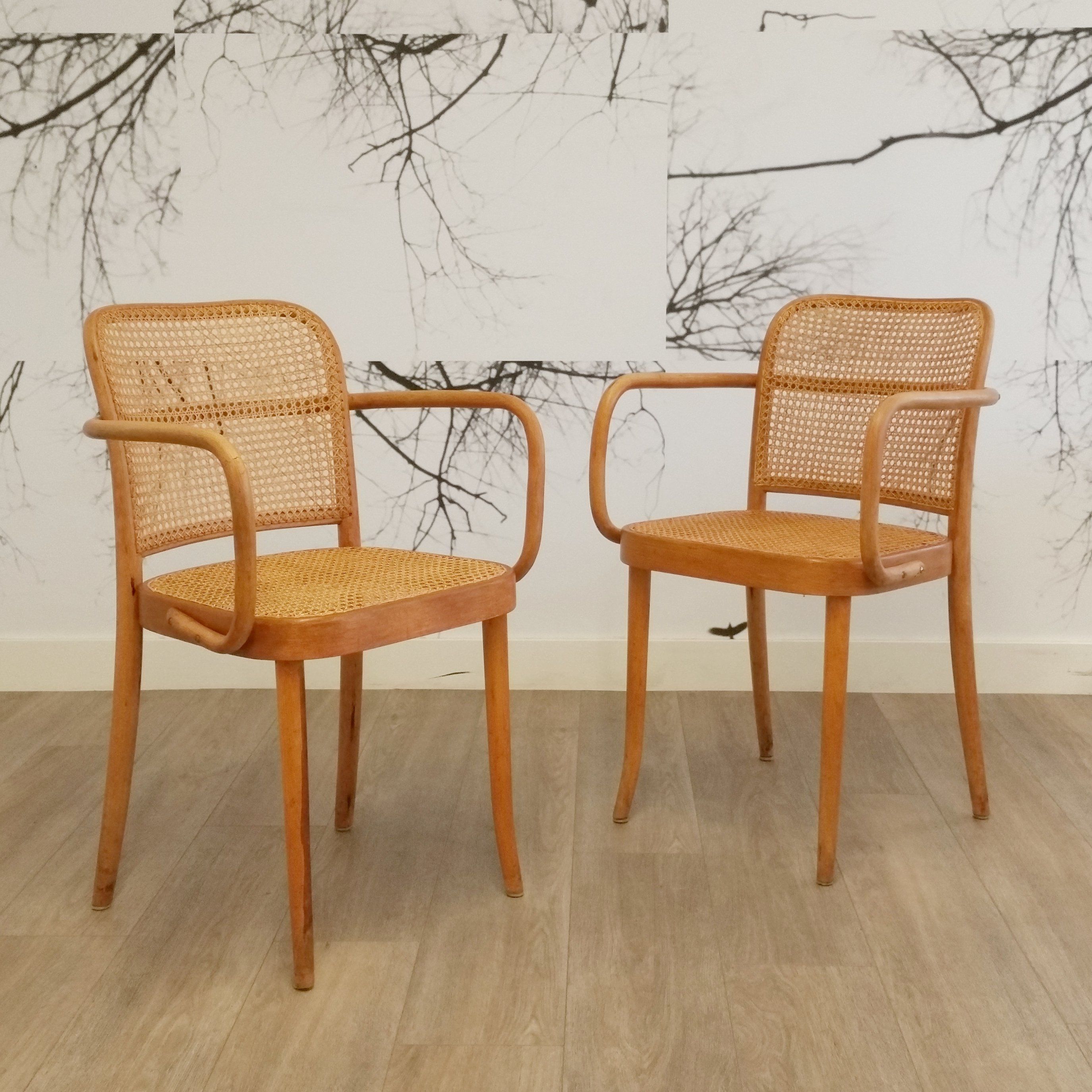 811 Chairs By Josef Hoffmann For Thonet