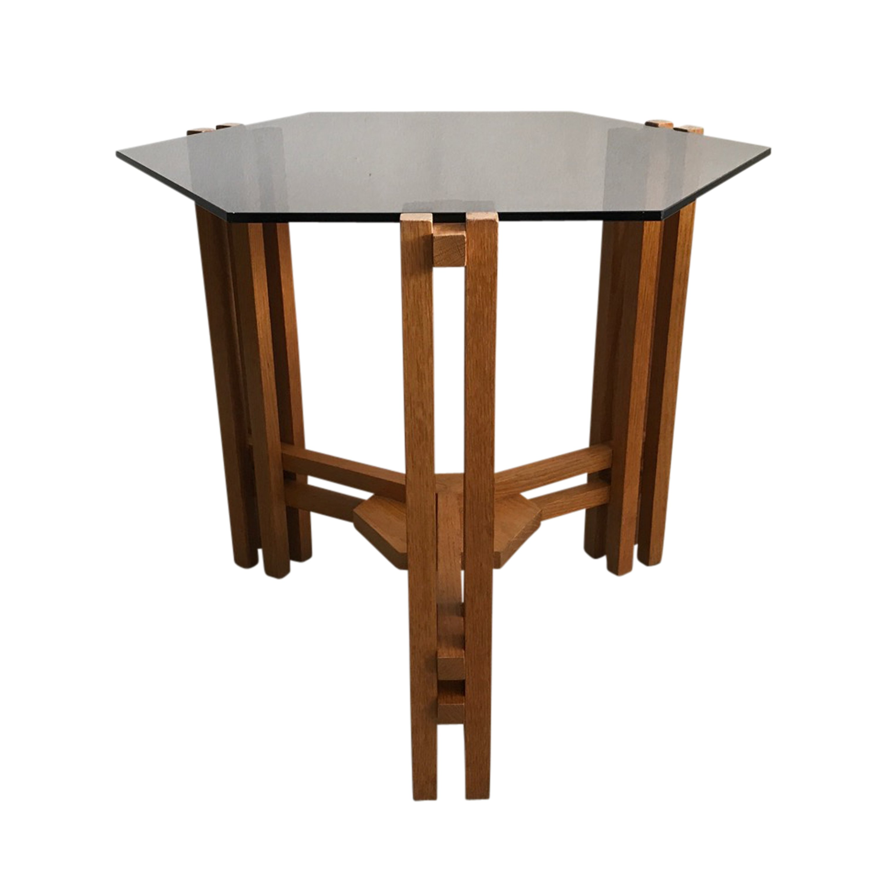 Picture of: Dutch Modernist Abstract Glass Wood Coffee Table 1960s 128597