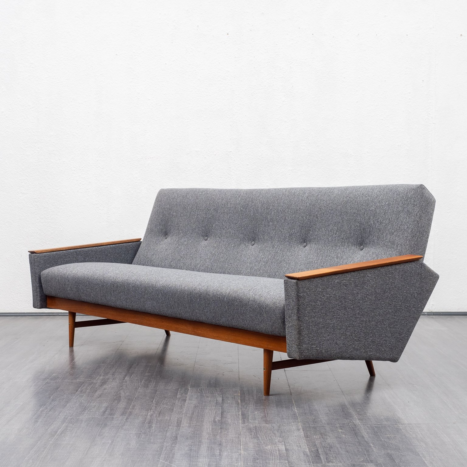 Picture of: Mid Century Teak Sofa With Fold Out Guest Bed 1960s 130756