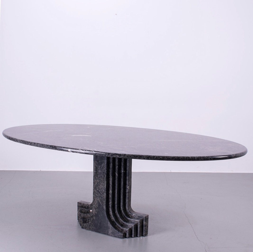 Mid Century Modern Marble Dining Table By Carlo Scarpa For Cattelan 132450