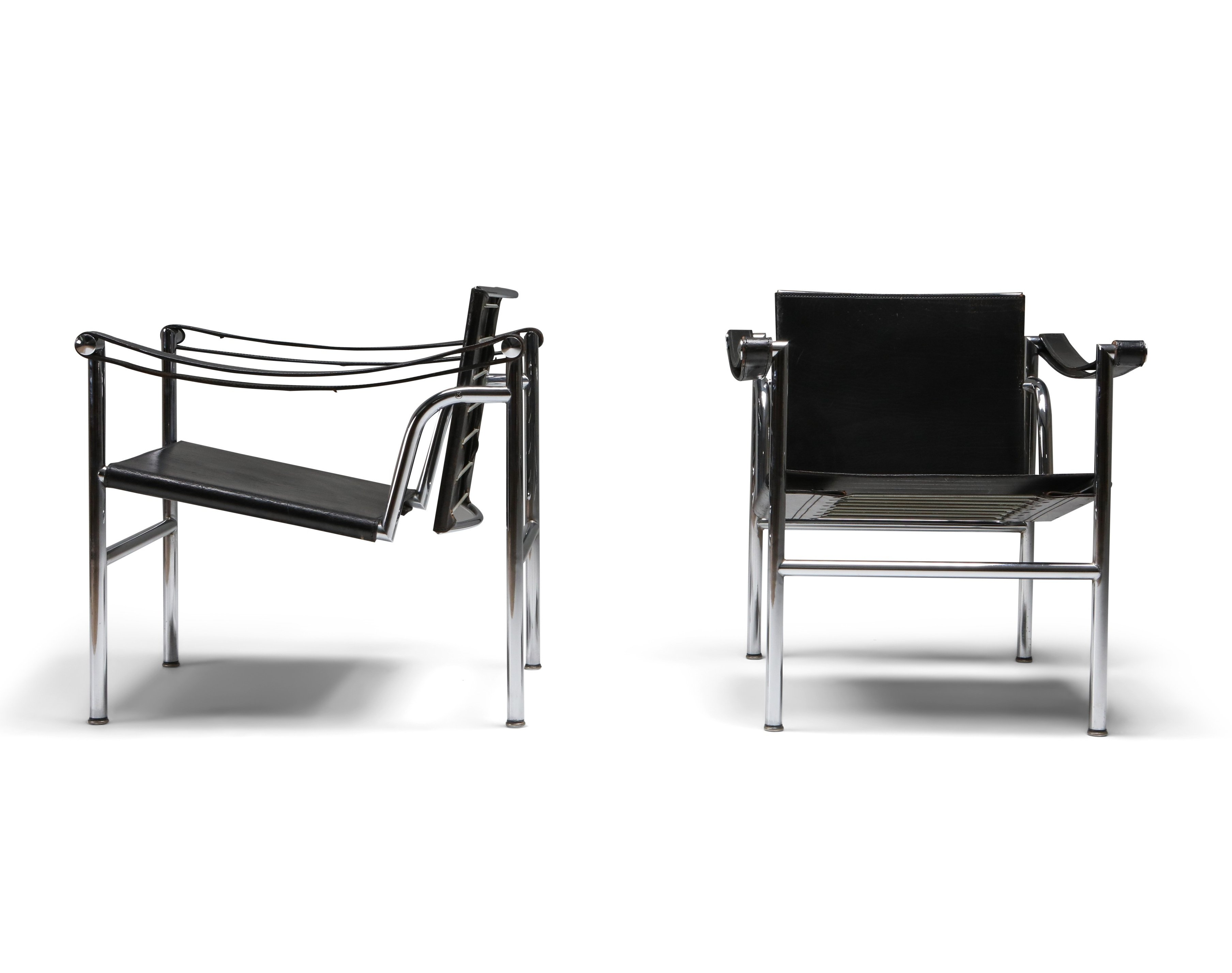 Vintage pair of LC2 chairs by Le Corbusier, Pierre Jeanneret ...