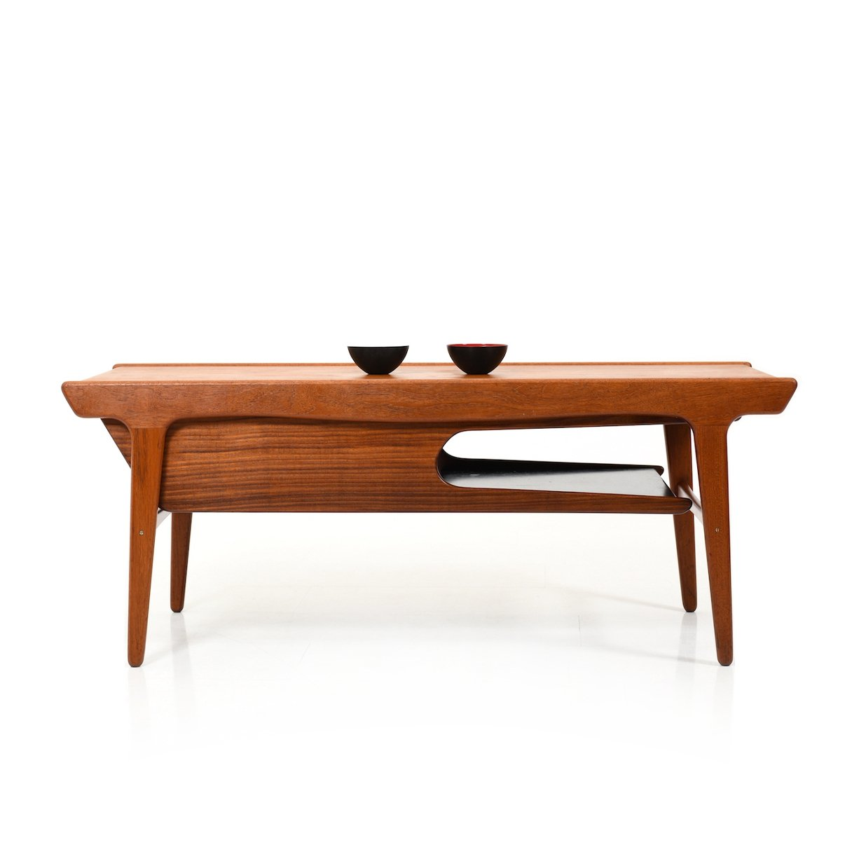Picture of: Rare Mid Century Danish Teak Sofa Table With Formica Inlays 134187