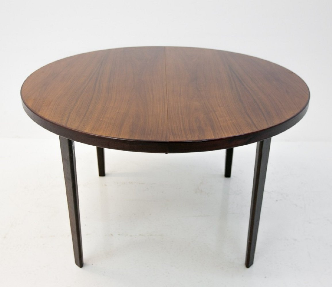 Large Folding Danish Dining Table In Rosewood 135439