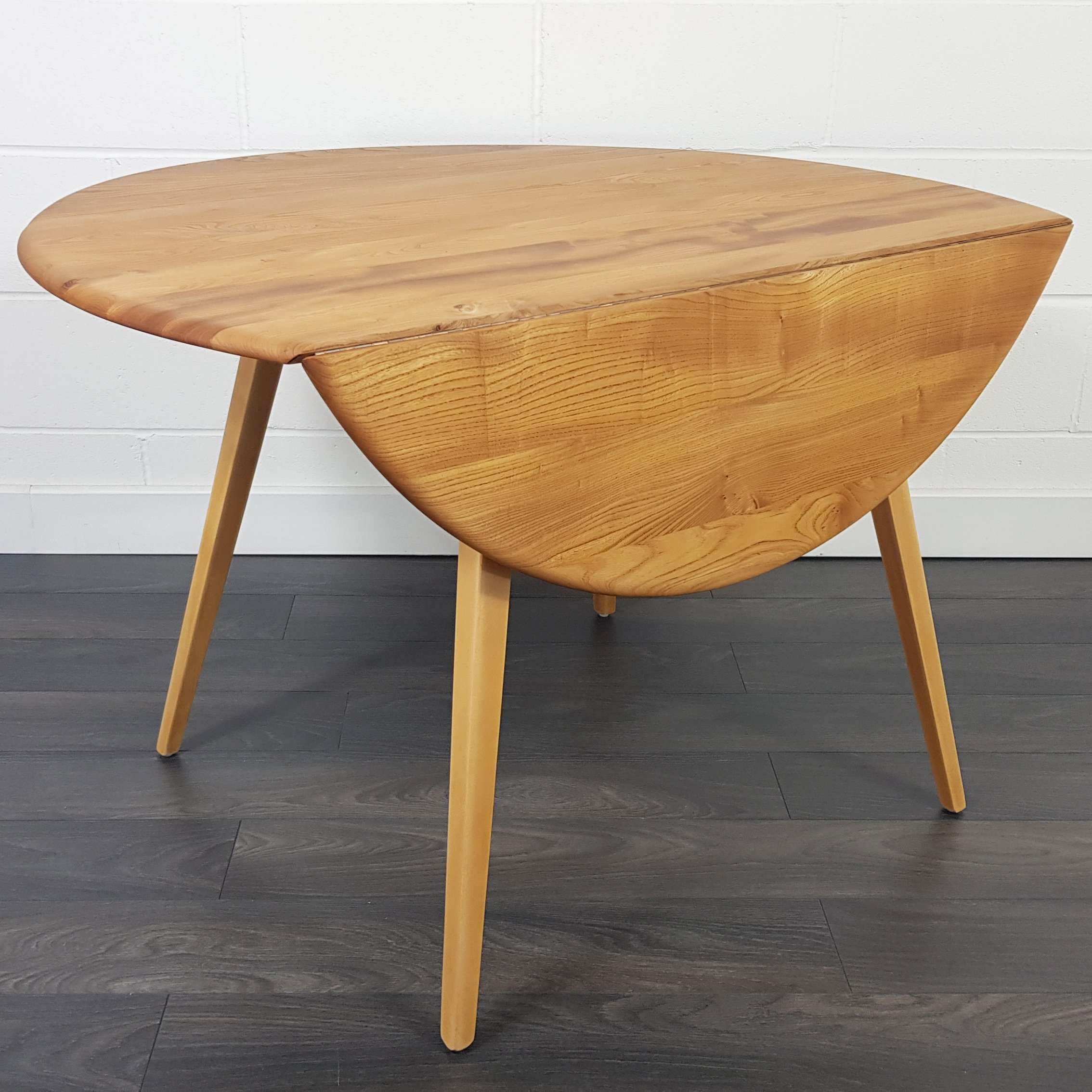 Ercol Round Drop Leaf Dining Table 1960s 135776