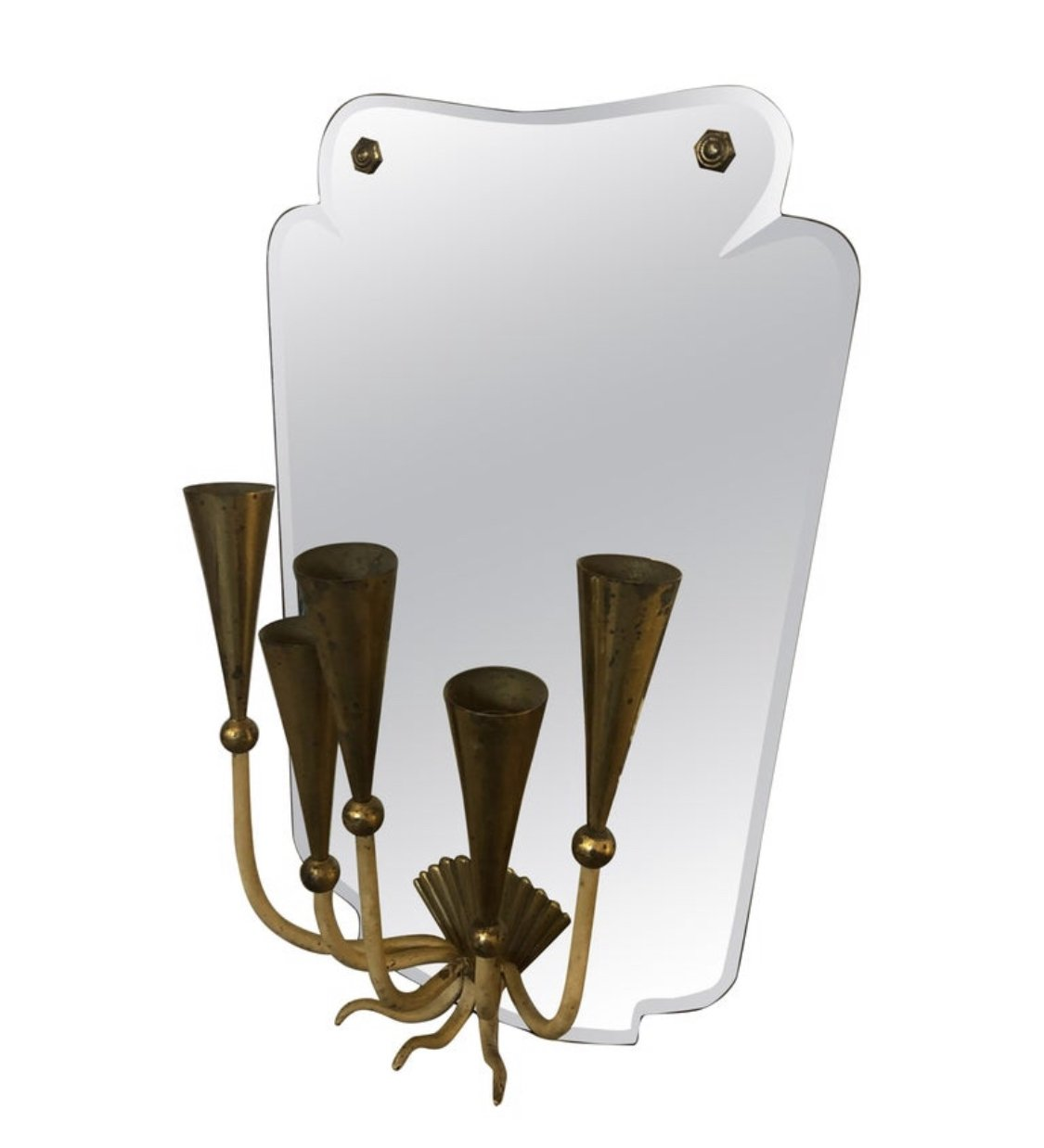 Picture of: Mid Century Modern Five Lights Italian Mirror Wall Sconce Circa 1950 136807