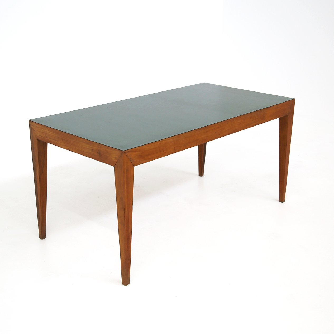 Dining Table By Gio Ponti In Walnut Green Formica 1950s 136901