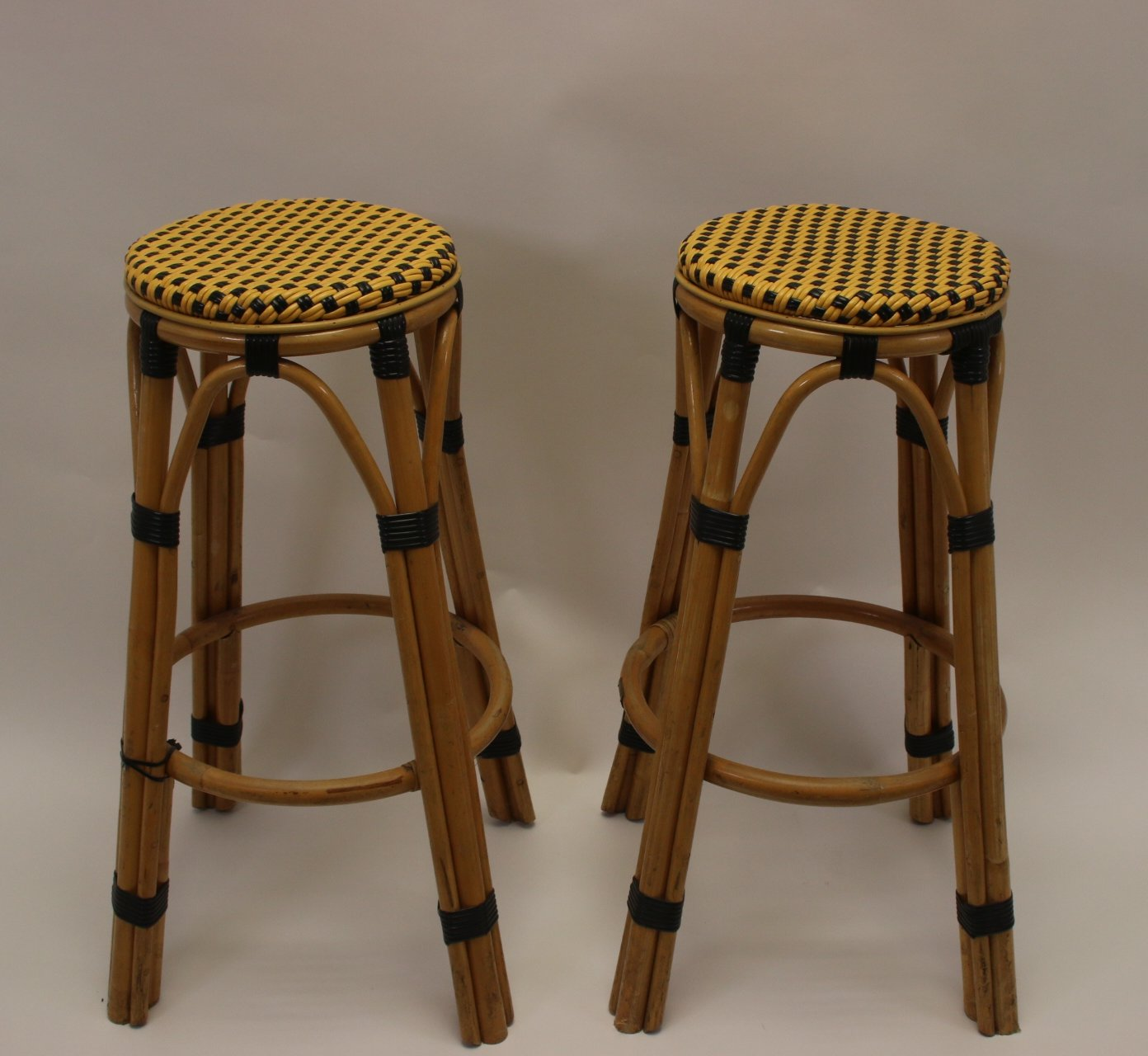 Picture of: Pair Of Bamboo Bar Stools 1960s 137113