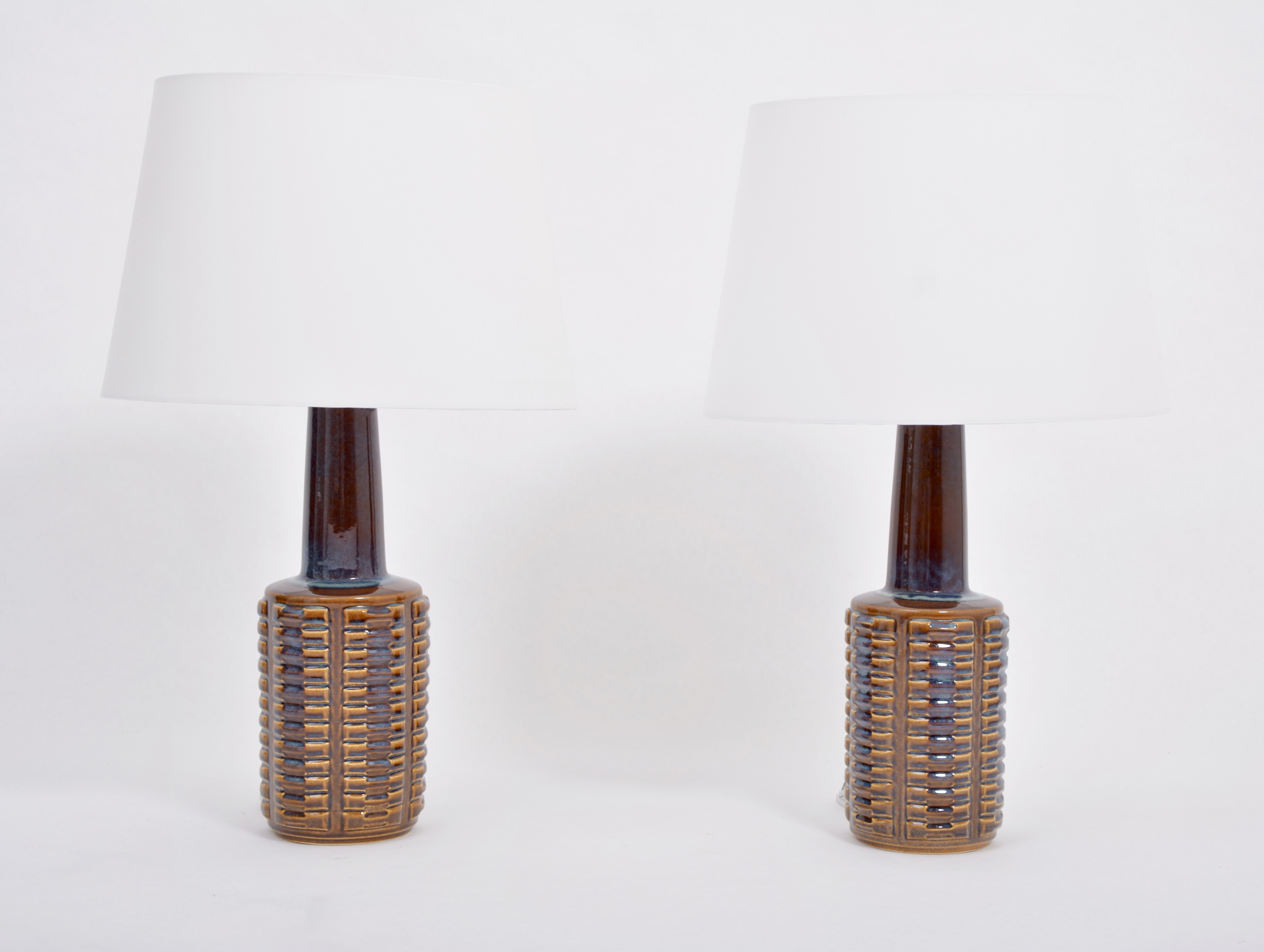 Pair Of Tall Mid Century Modern Ceramic Table Lamps By Einar Johansen For Soholm 138447