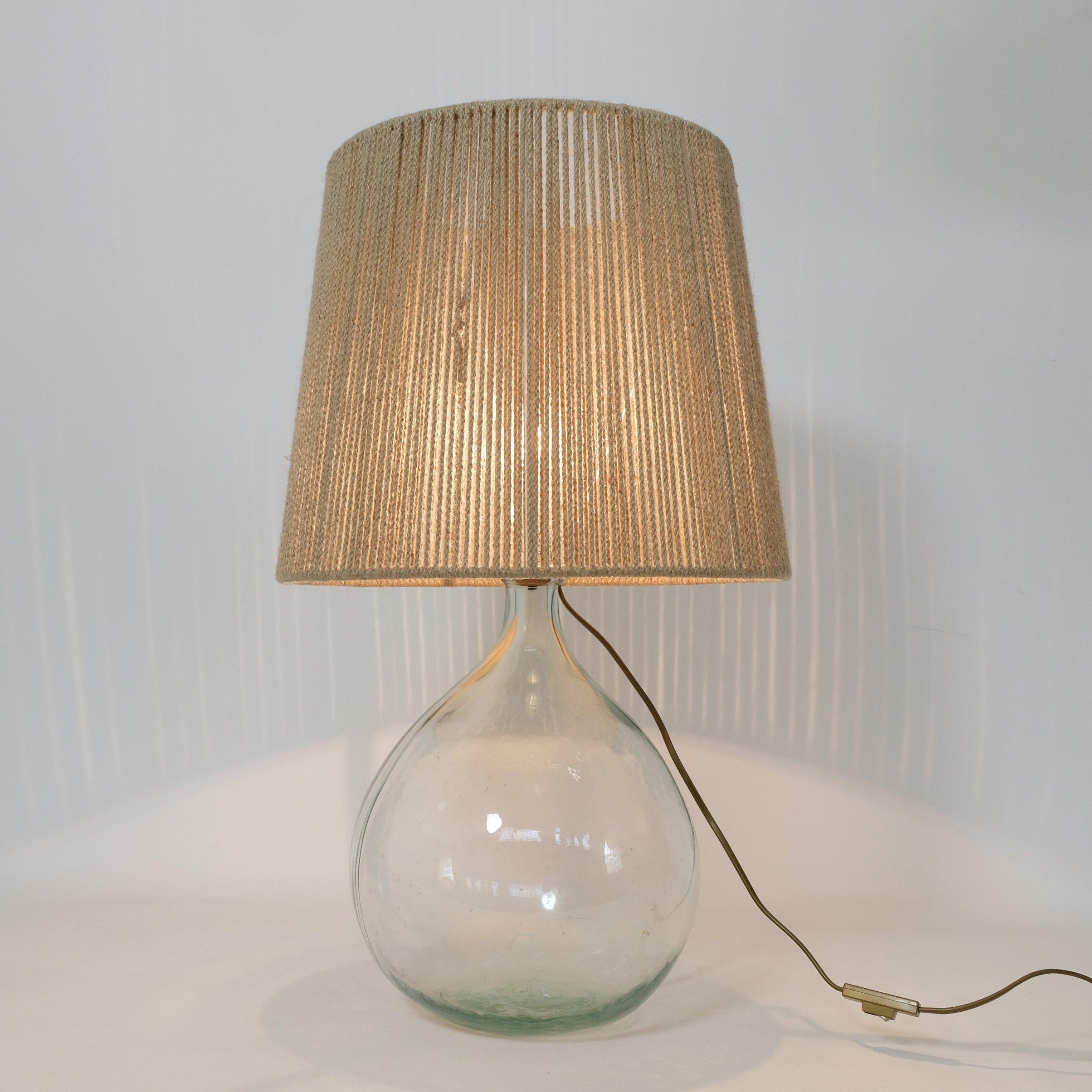 Table Lamp With A Rope Shade 1970s 1980s 139647