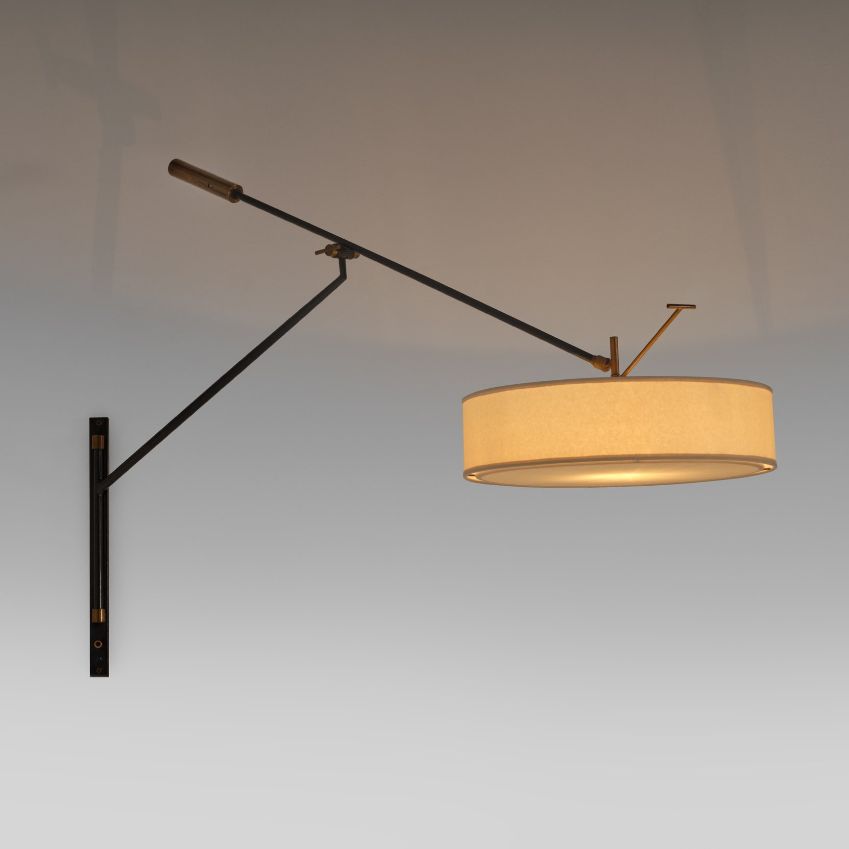 Large Adjustable Wall Lamp By Arlus France 1950 S 141278