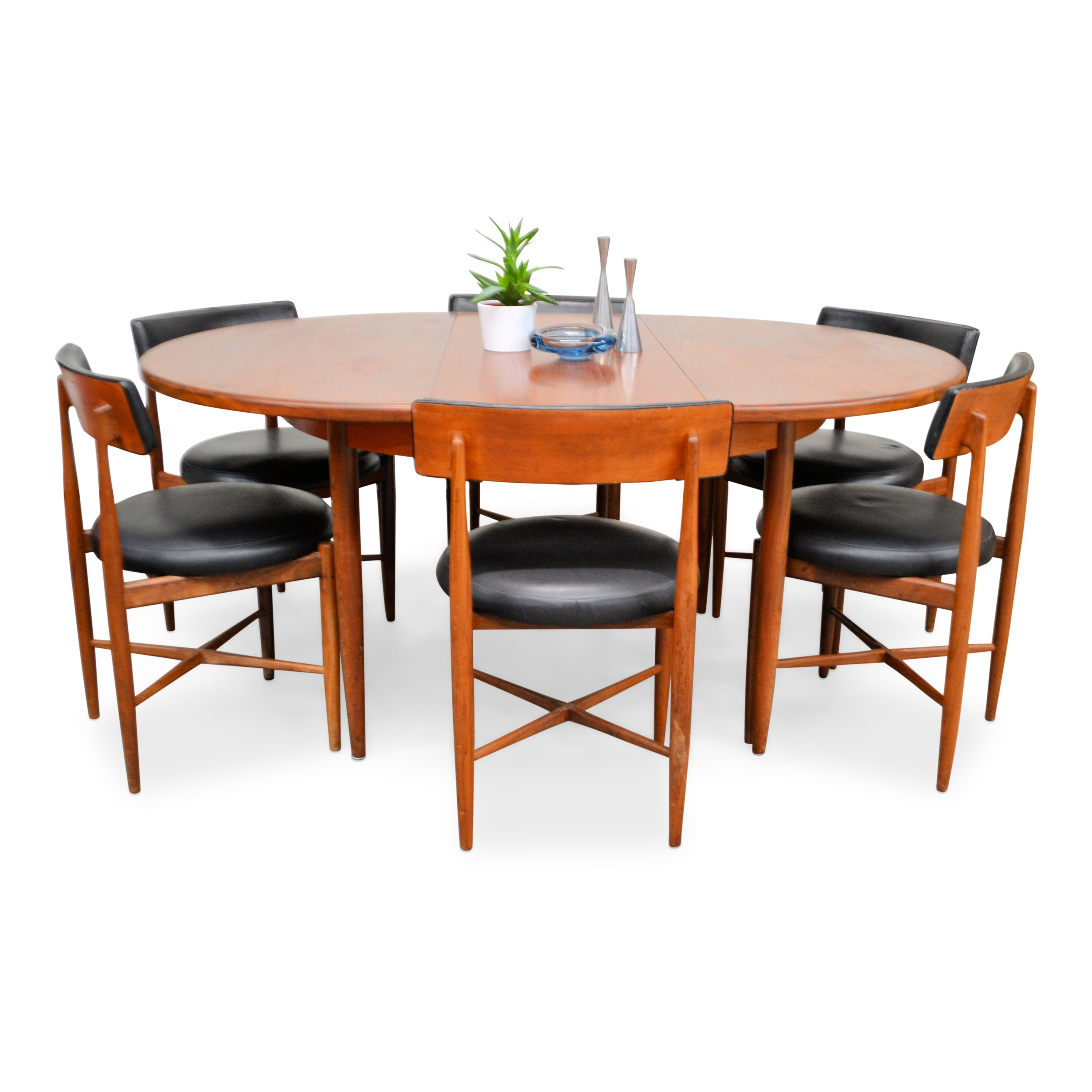 Cucina Letters Kitchen Decor, Vintage G Plan Teak Dining Table With 6 Dining Chairs 143050