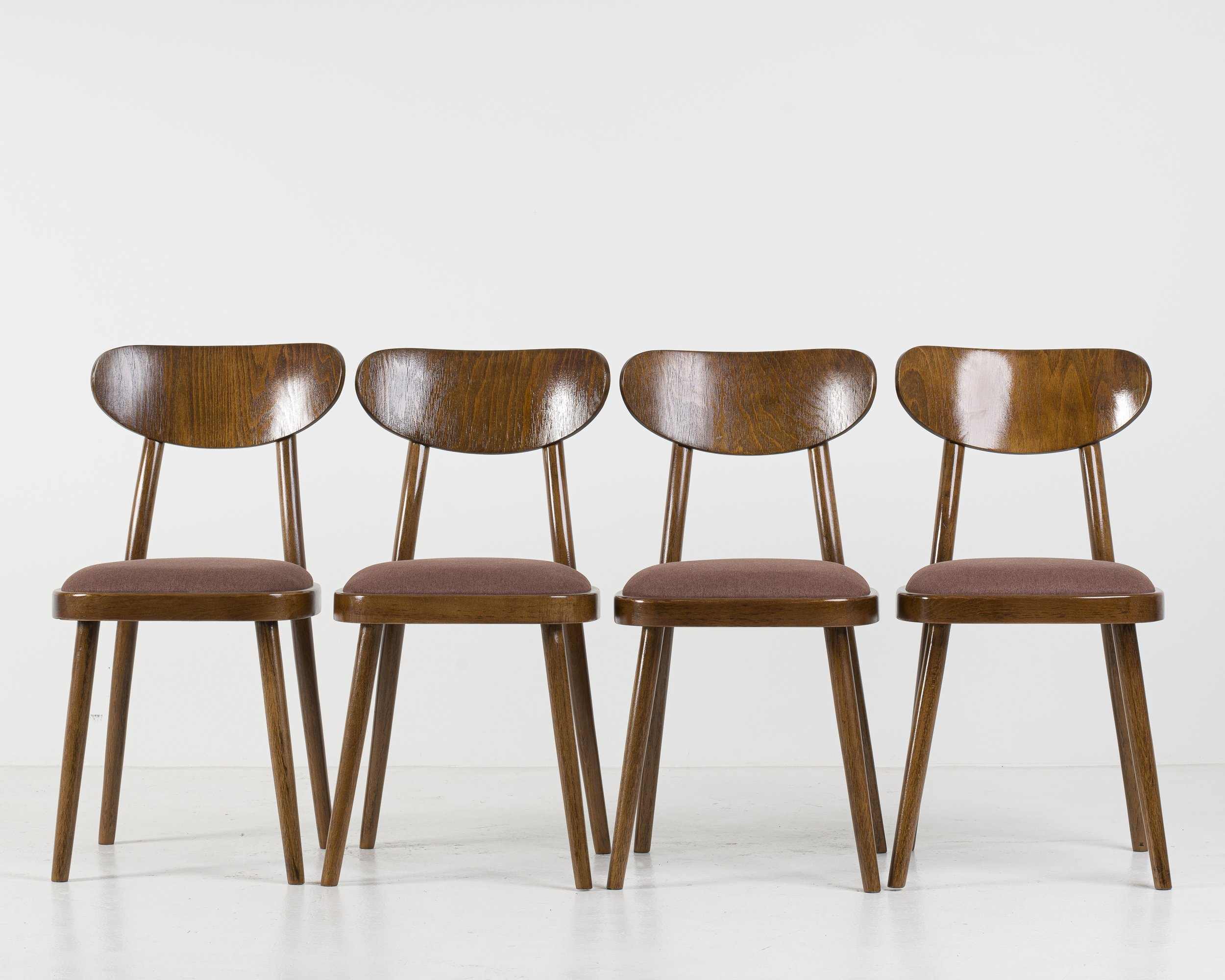 Set Of 4 Dining Chairs From Ton 1960 S 143086